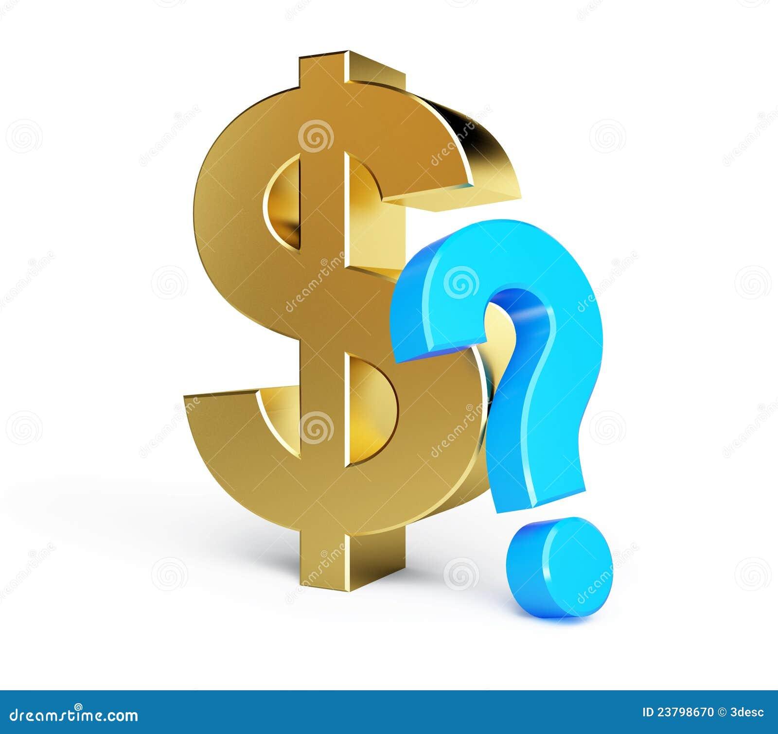 Signo De Interrogación Del Dólar Stock de ilustración - Ilustración ...