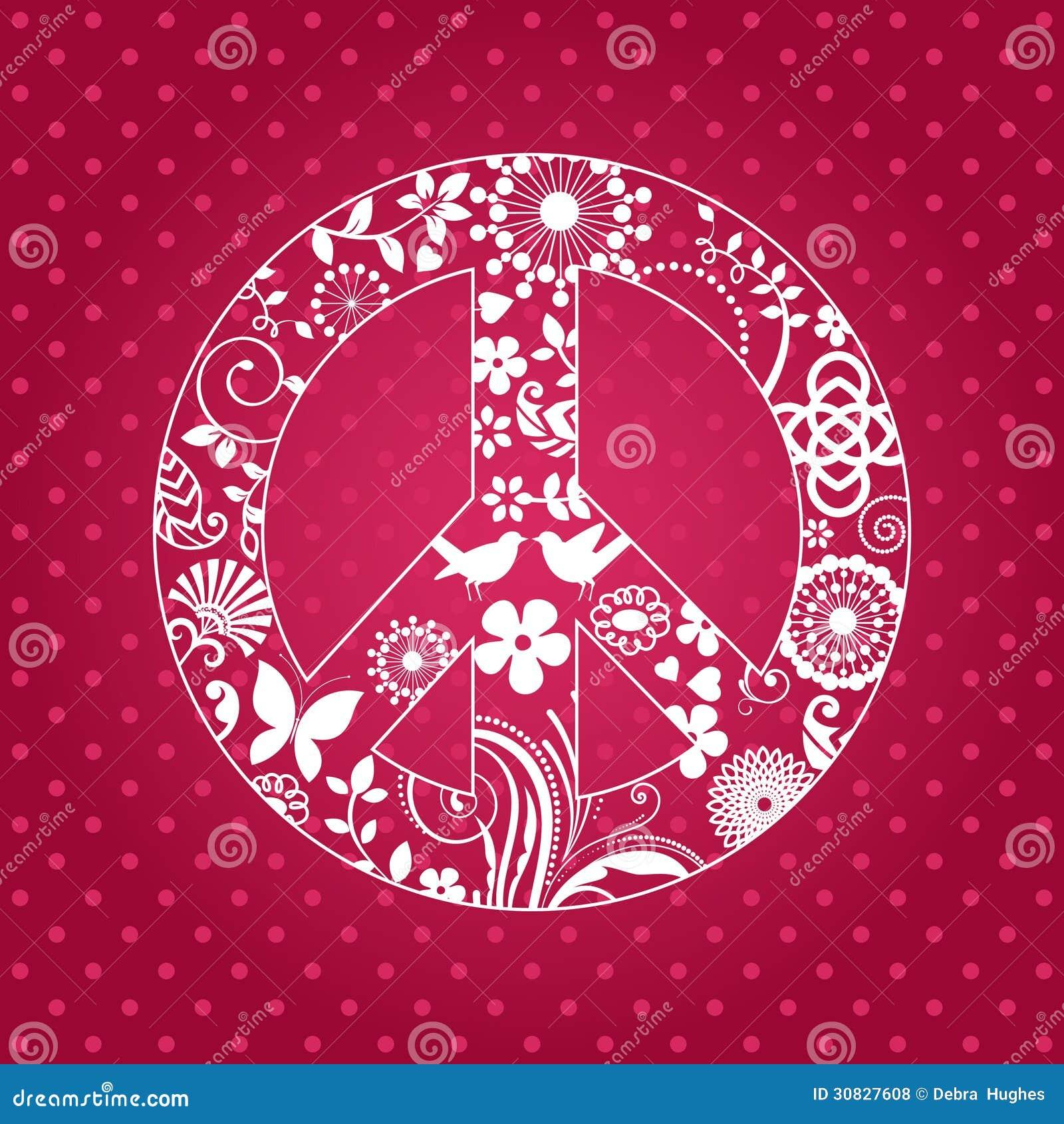 Signo de la paz de Patterened