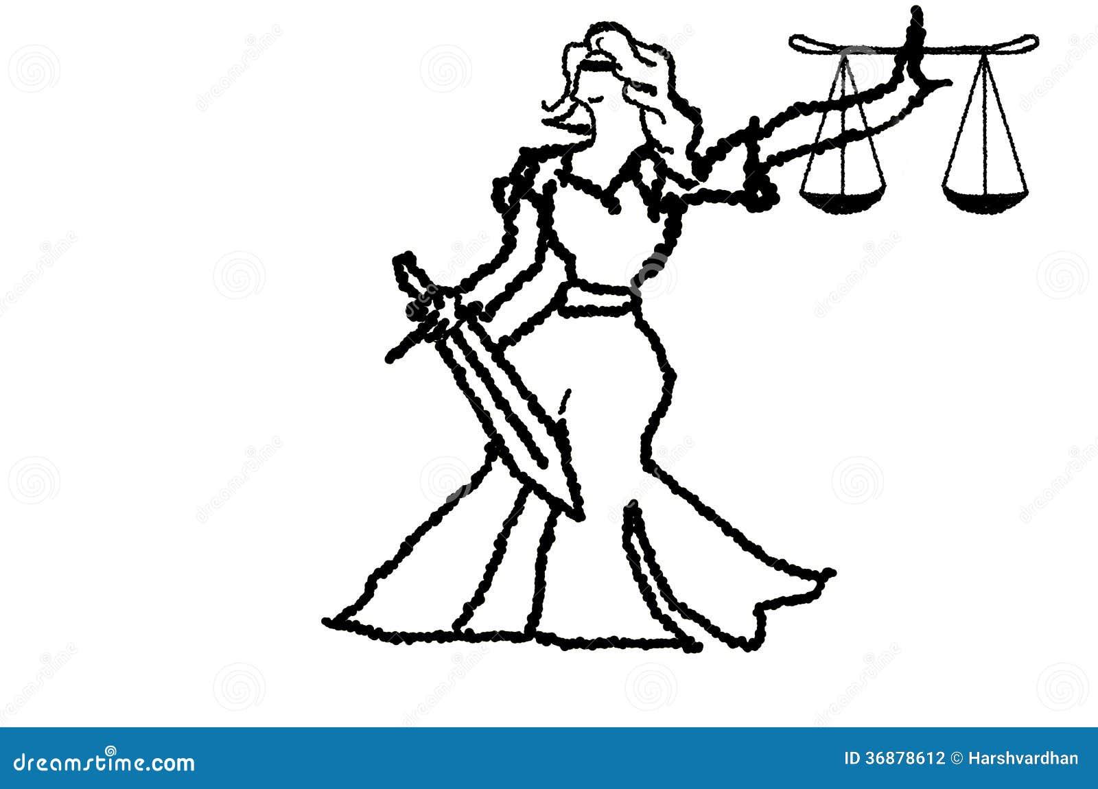 Download Signora di giustizia illustrazione di stock. Illustrazione di illustrazione - 36878612