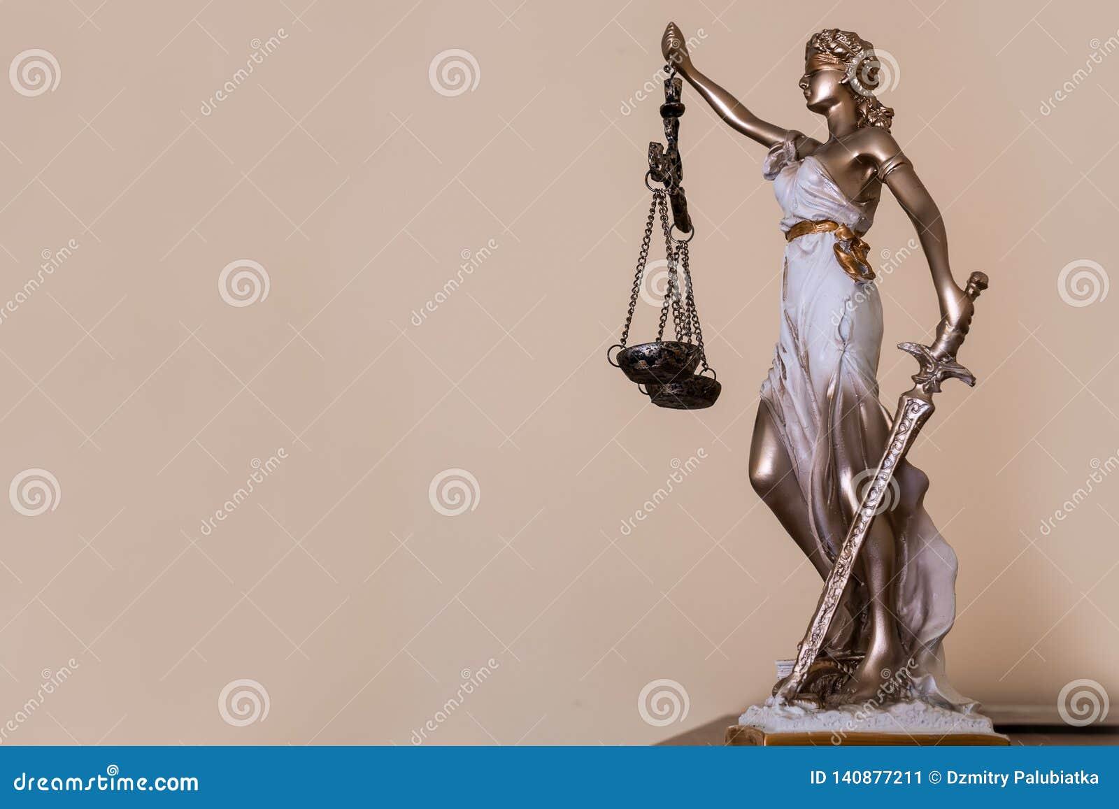 Signora di giustizia Tema di legge