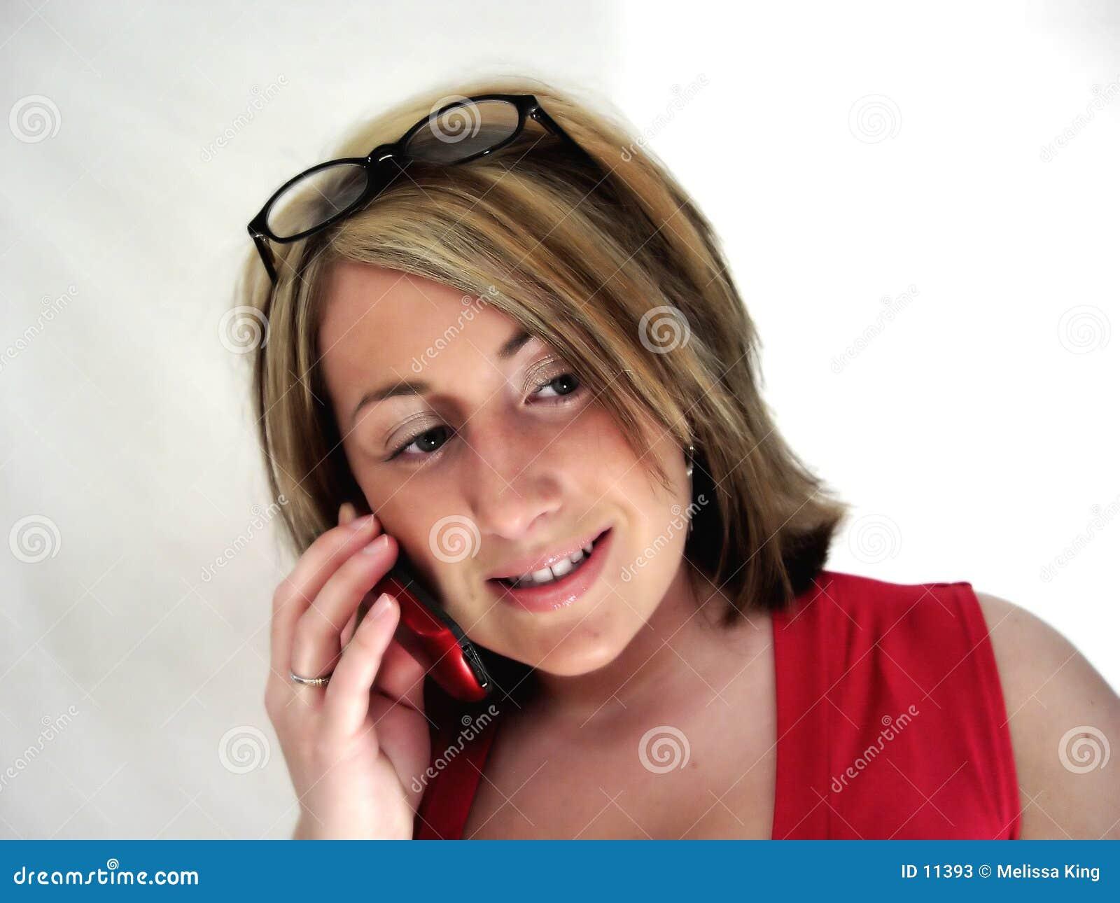 Signora On Phone III di affari