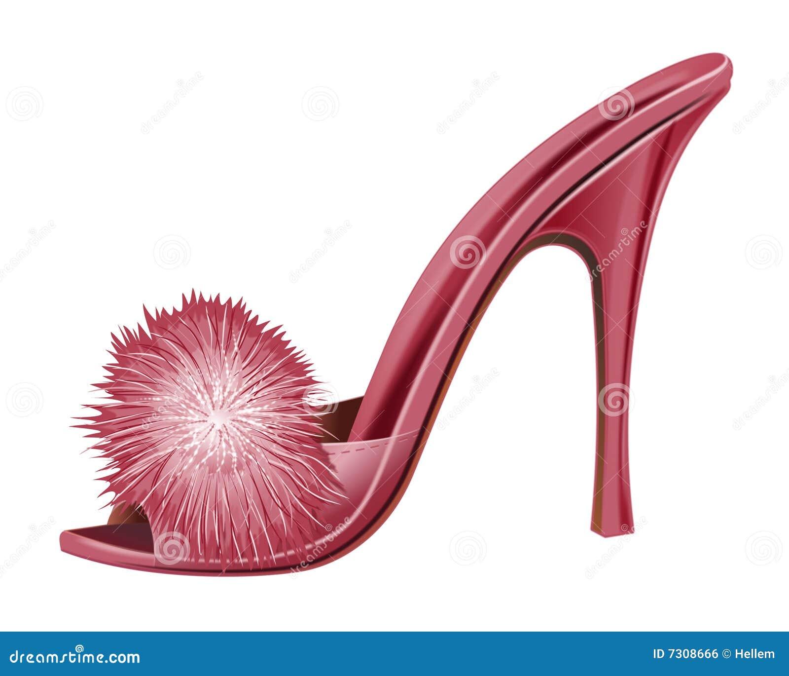 Signora rossa Shoe - isolato