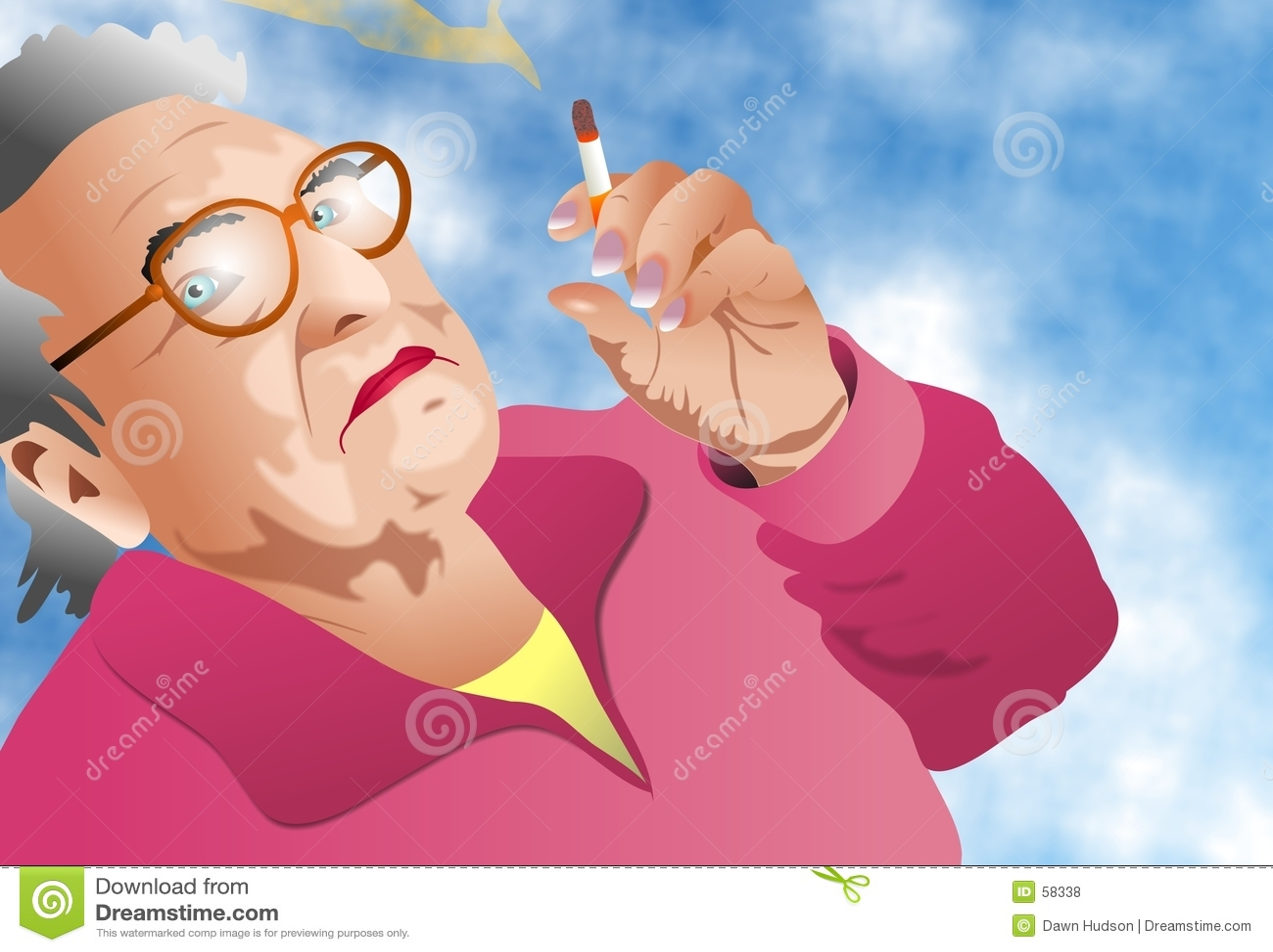 Download Signora Smoking illustrazione di stock. Illustrazione di cittadino - 58338