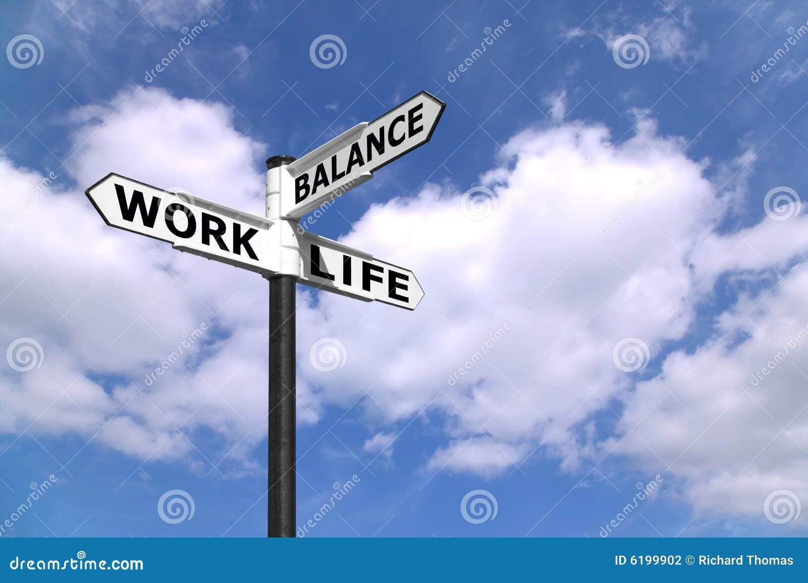 Signpost dell equilibrio di vita del lavoro