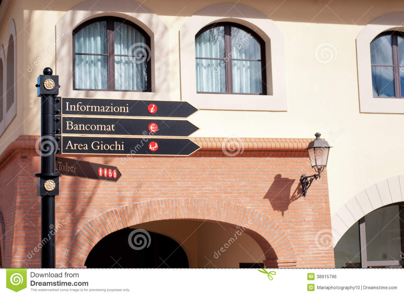 Signpost in Italy