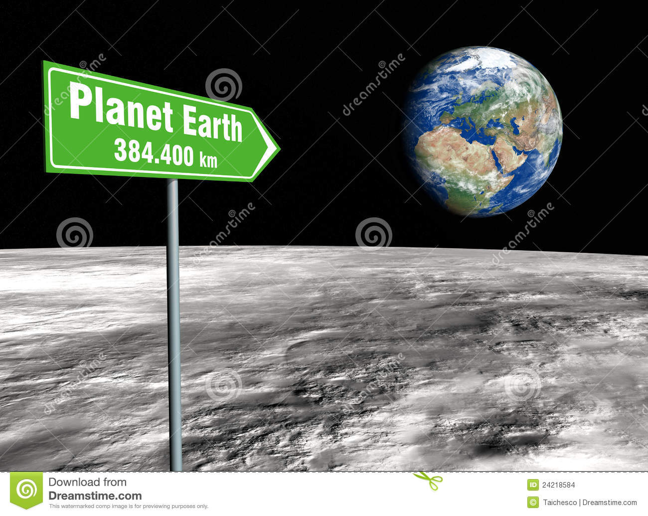 Signpost on the moon