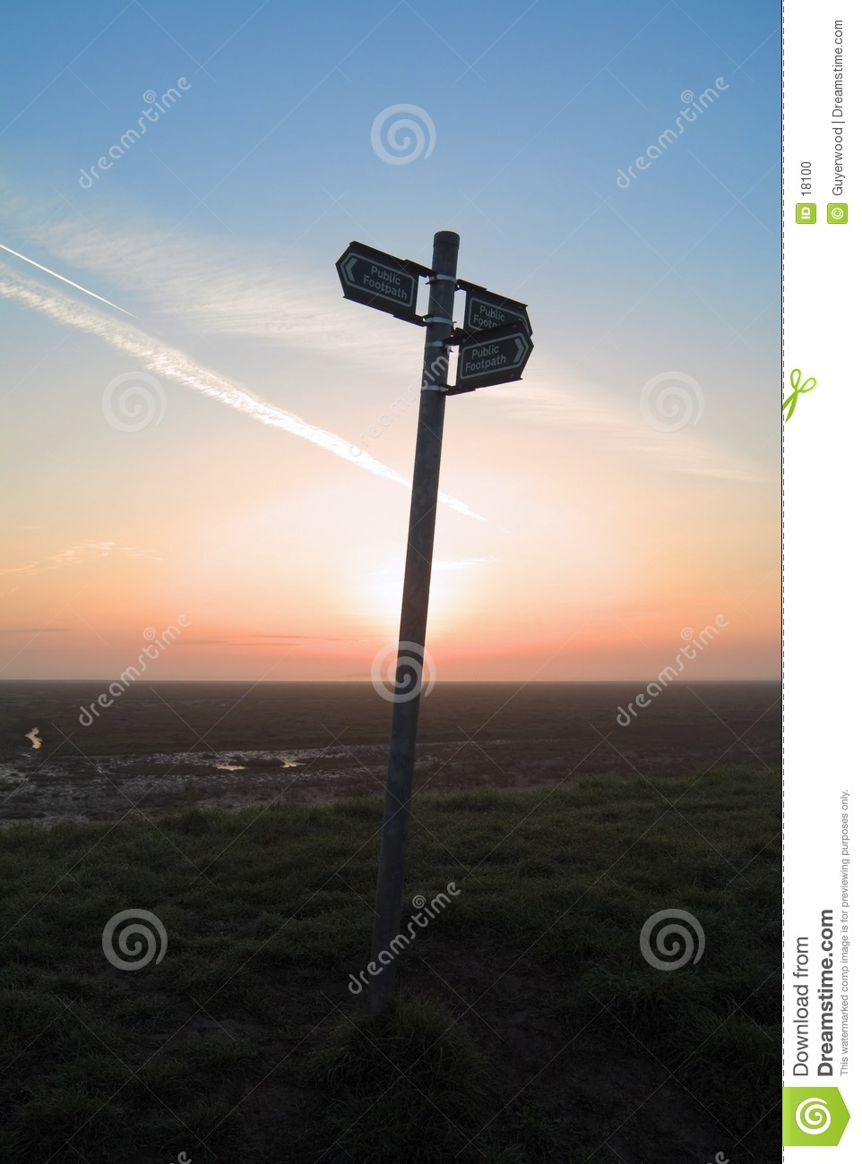 Signpost in the sky