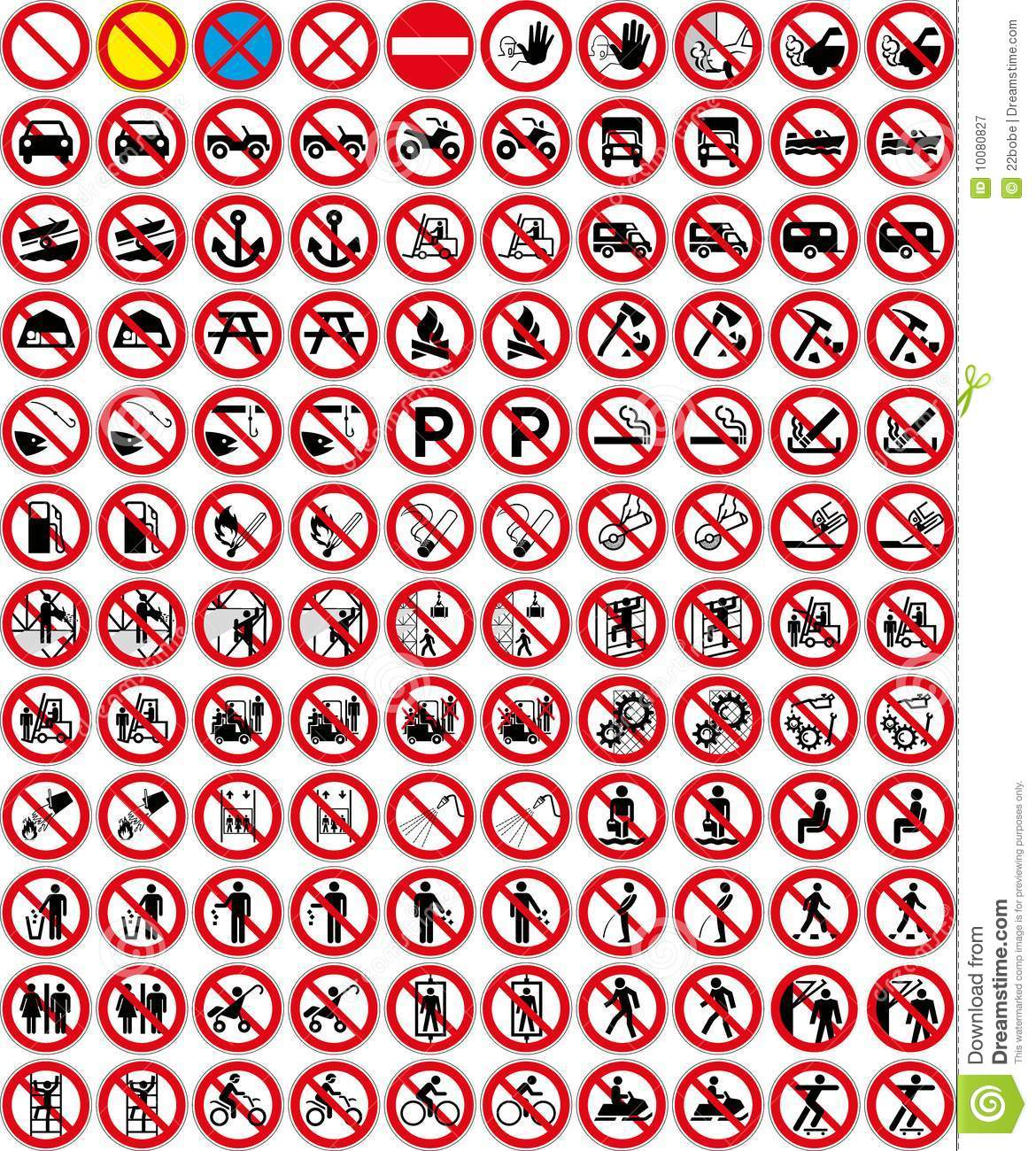 Signs Collection 3 No Sign Vector Royalty Free Stock