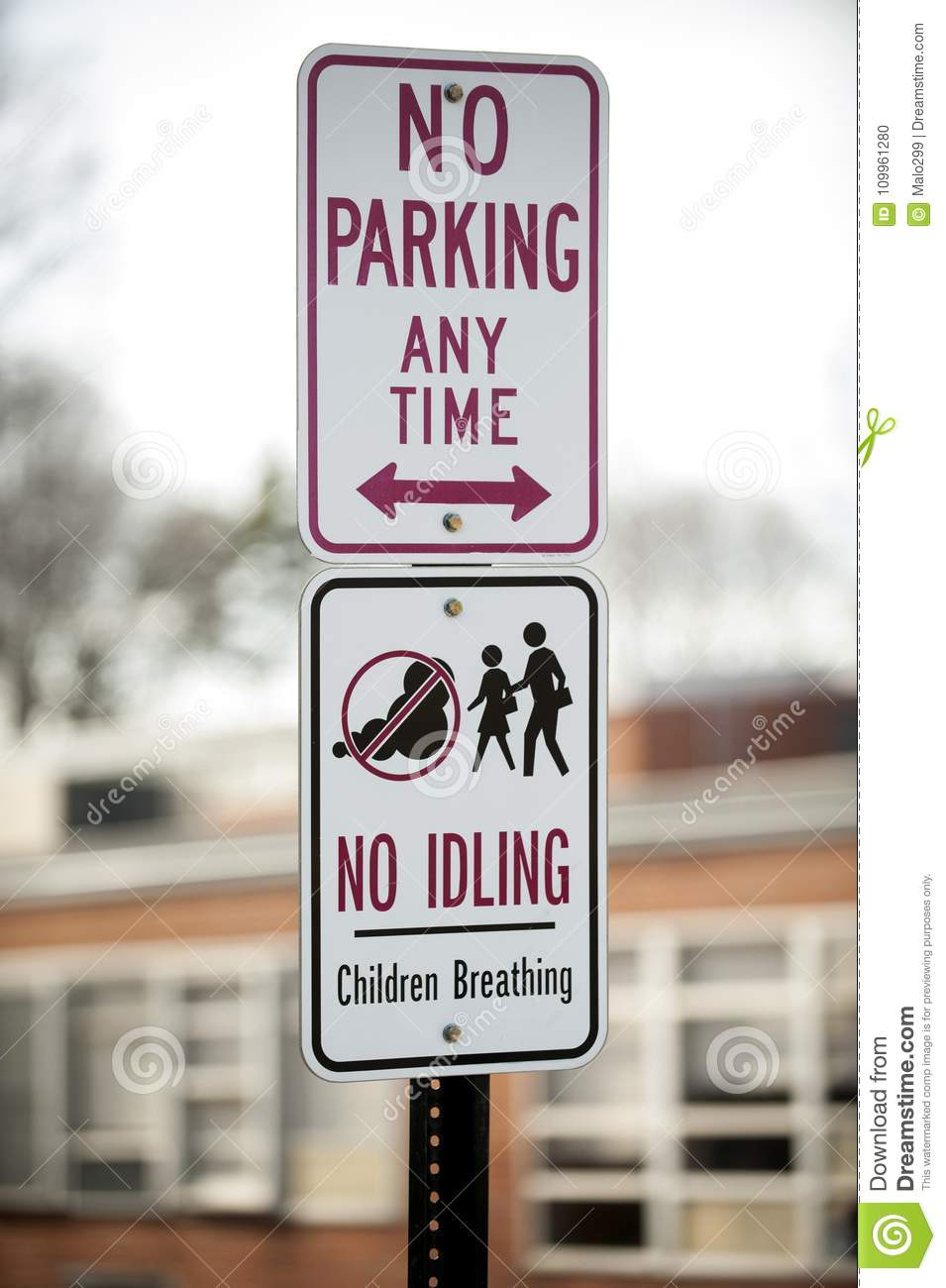 Signs outside of school