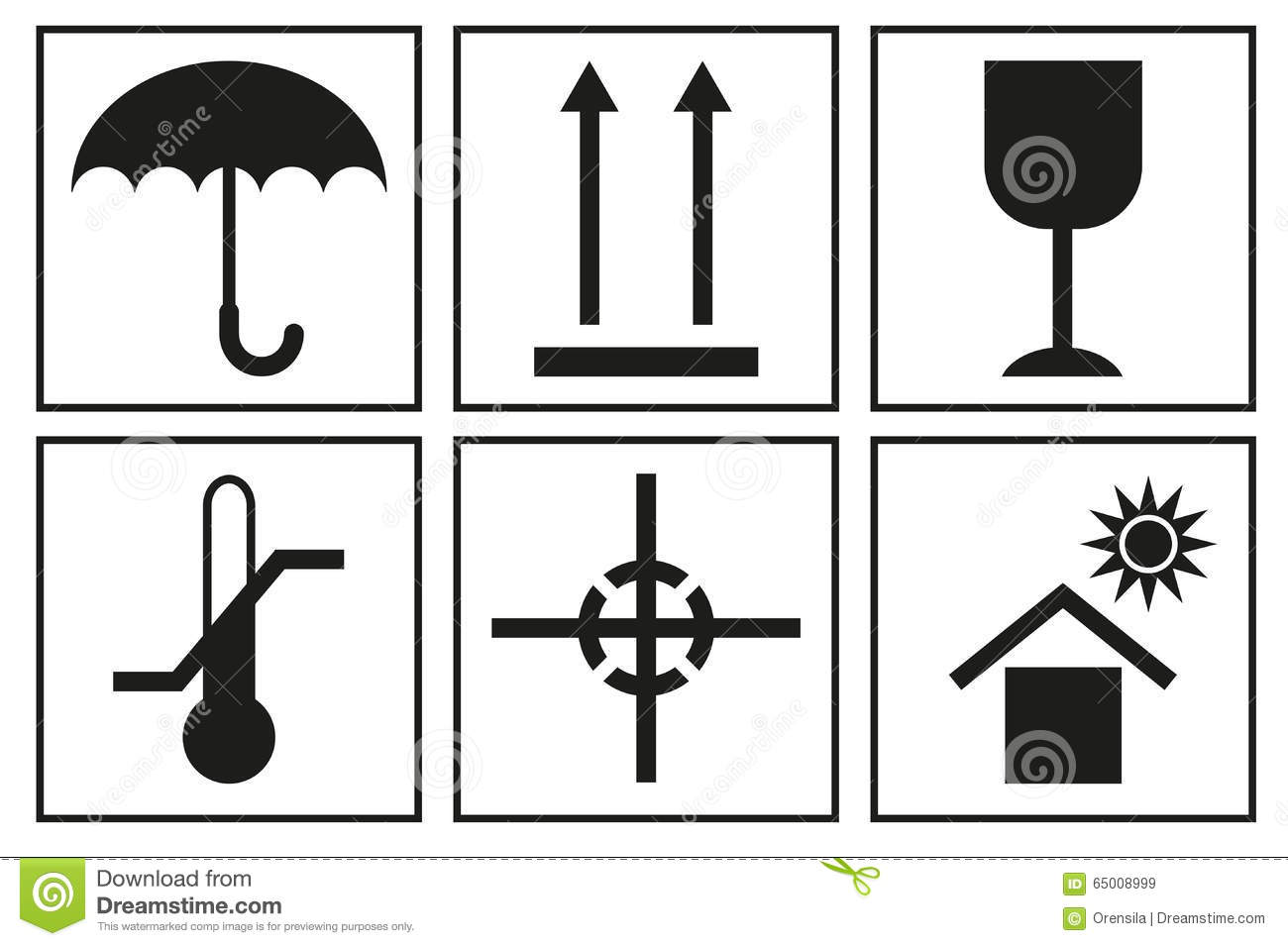 Packaging box symbols stock illustration illustration of transport signs on packaging logistic icon for box packaging box symbols royalty free stock images biocorpaavc Choice Image
