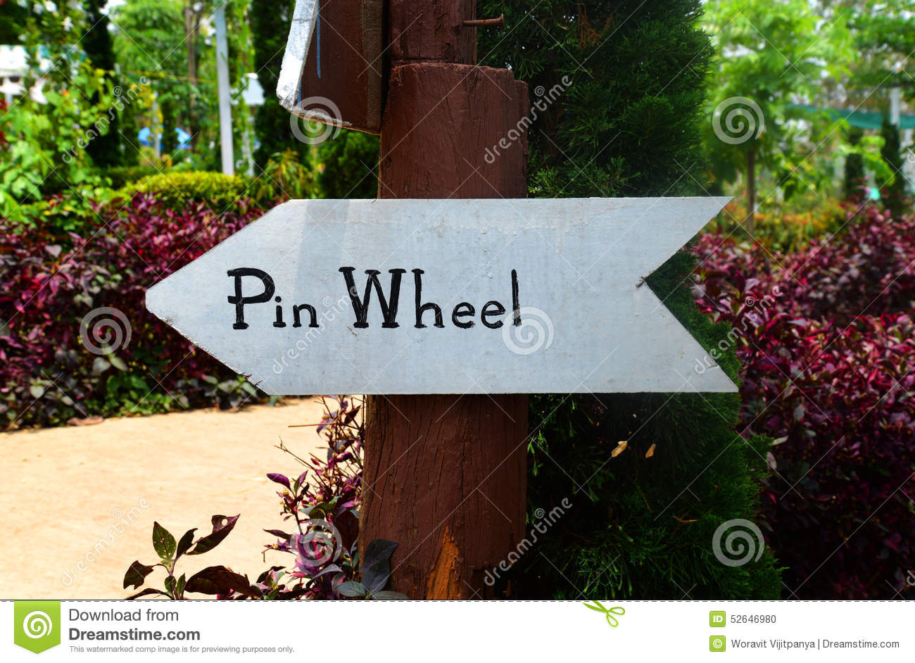 Signs pin wheel