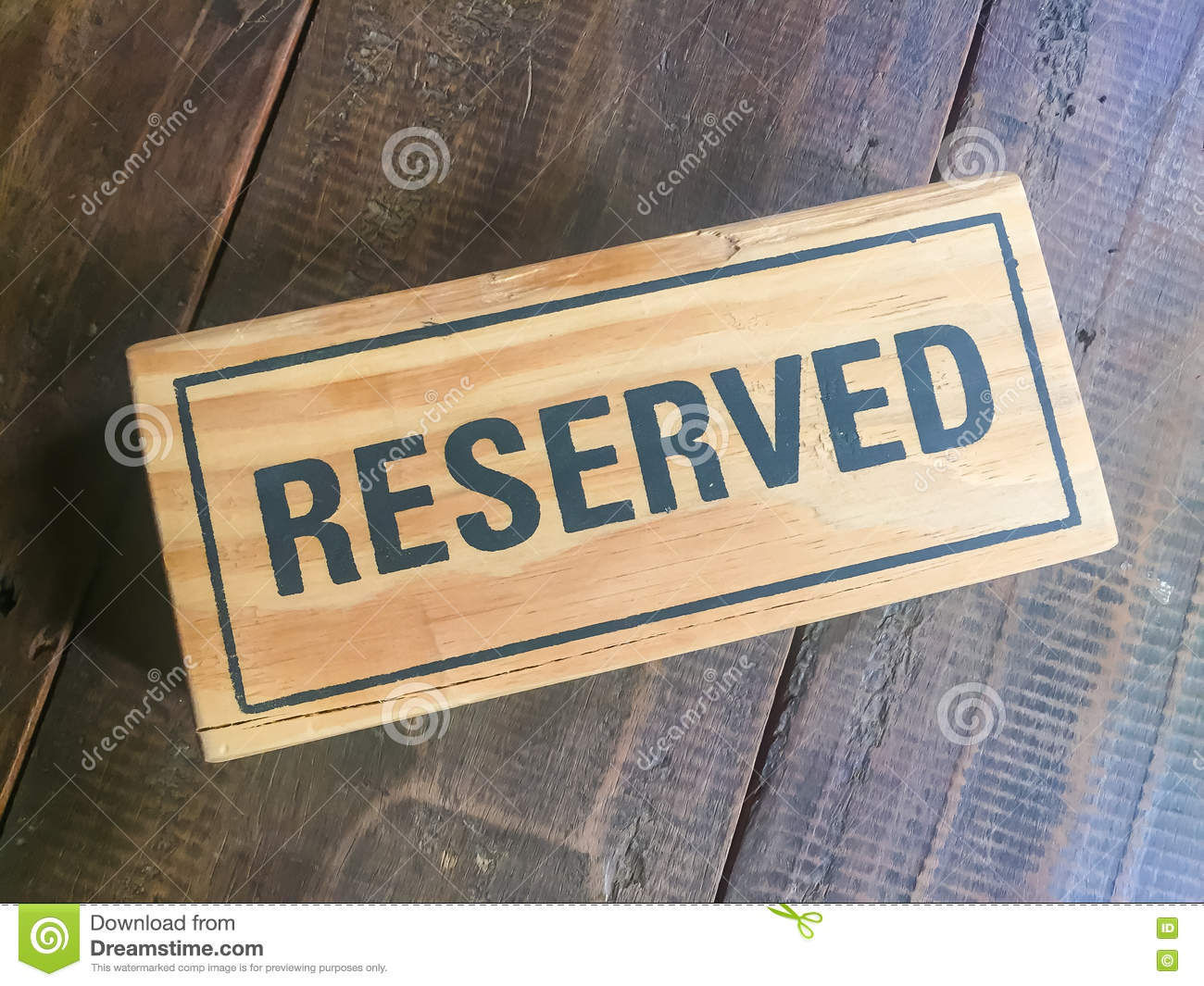 Signs Reservation On The Table Stock Photo Image Of Food Card - Restaurant table signs