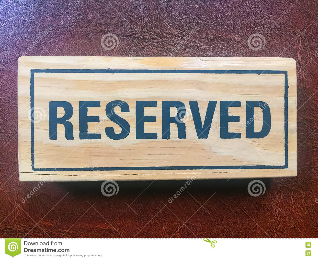 Signs Reservation On The Table Stock Photo Image Of Dining Image - Restaurant table signs