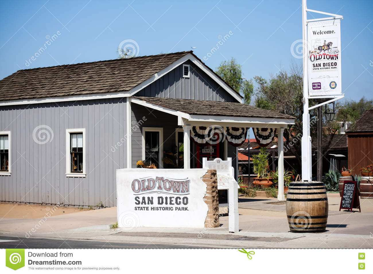 Signs Stating Old Town State Park In San Diego California Editorial Photo Image 73669851