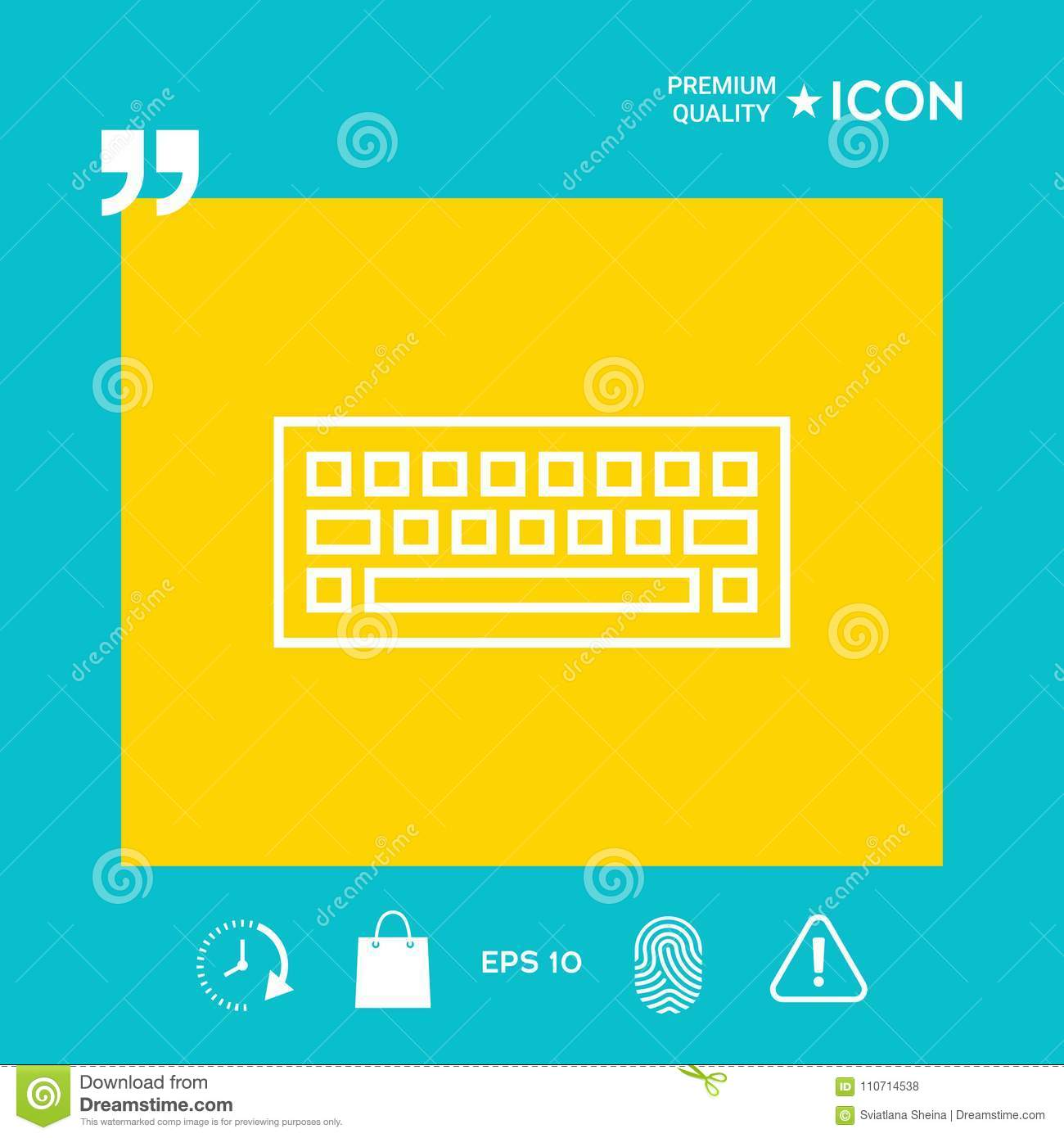 Keyboard Symbol Icon Stock Vector Illustration Of Qwerty 110714538