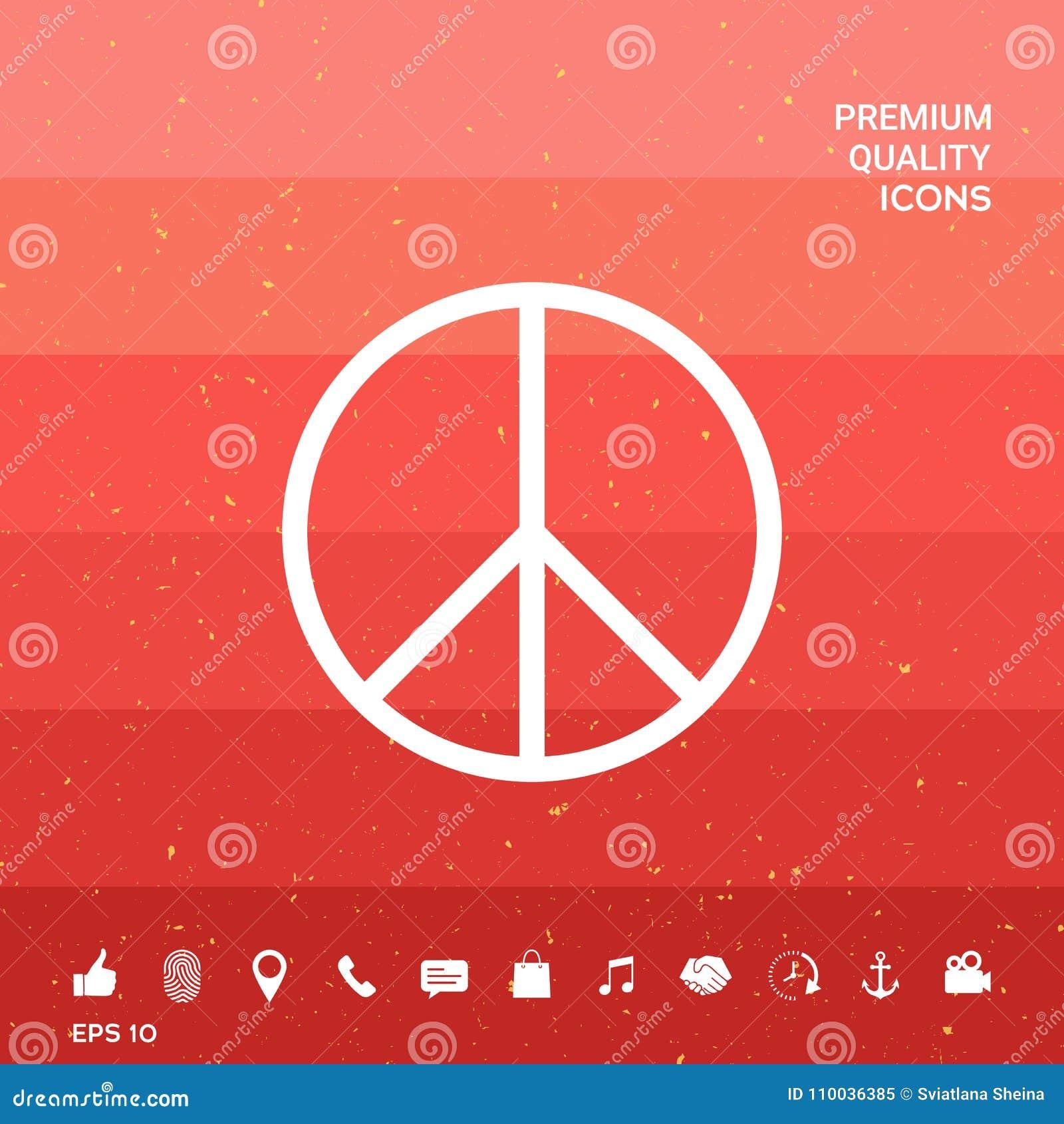 Peace Sign Symbol Stock Vector Illustration Of Antiwar 110036385