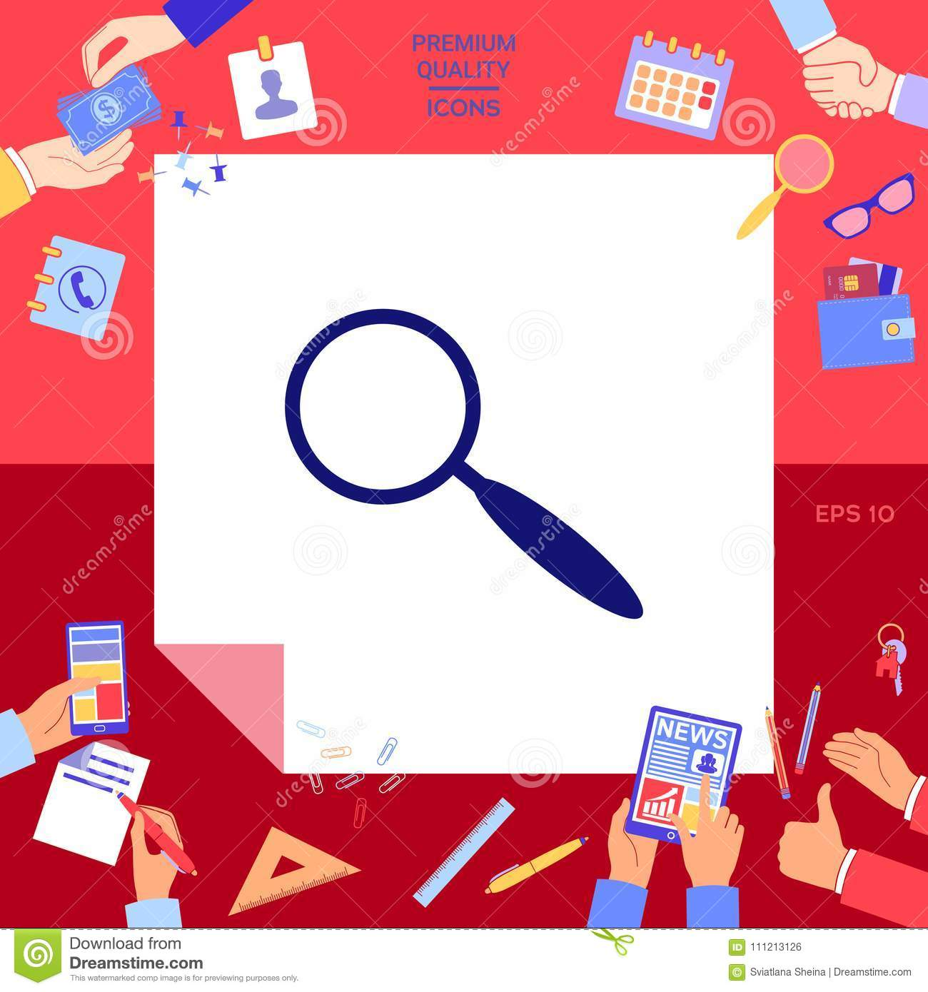 Search Symbol Icon Stock Vector Illustration Of Background 111213126
