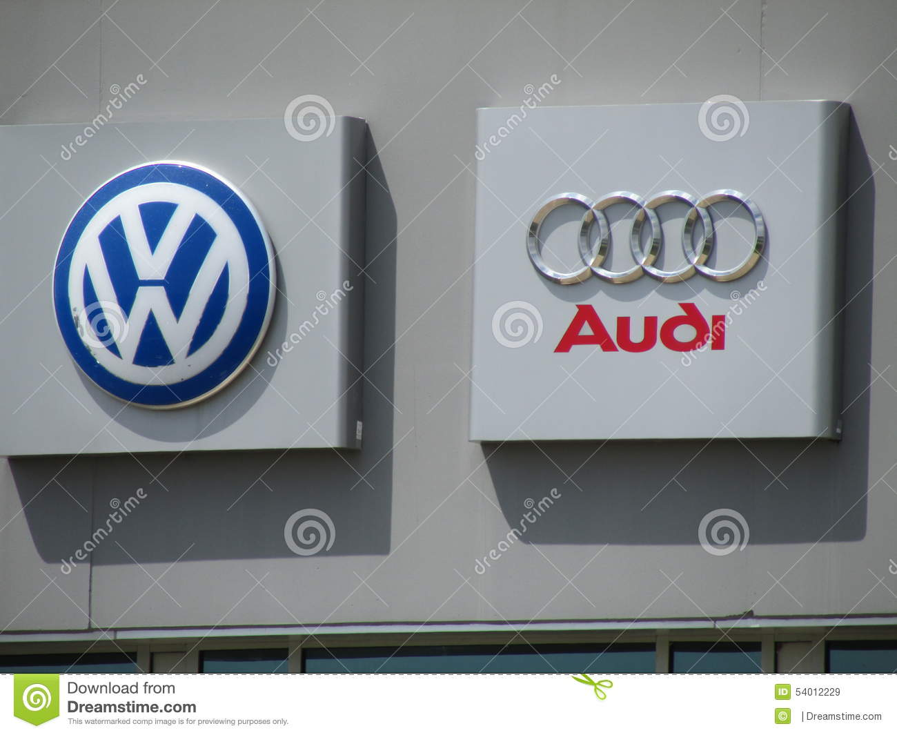 Signs On Vag Vw Audi Distribution Center In Nj Editorial Stock