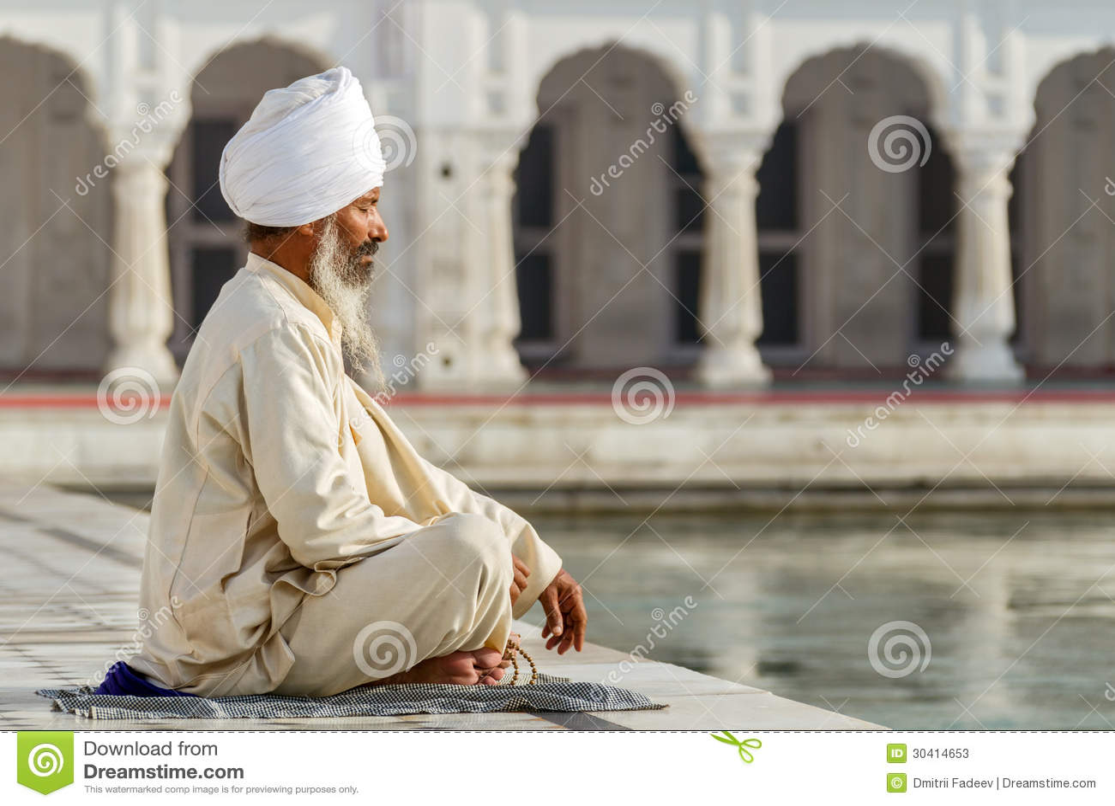 Sikh in einem Obliterationsgebet