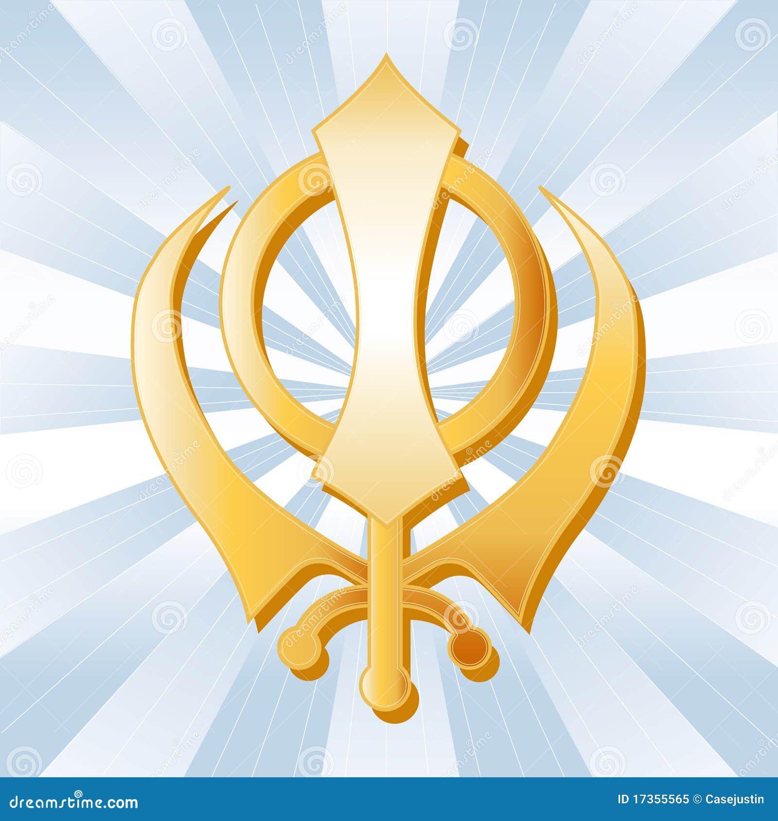 Sikh Symbol Stock Vector Illustration Of Religious Golden 17355565