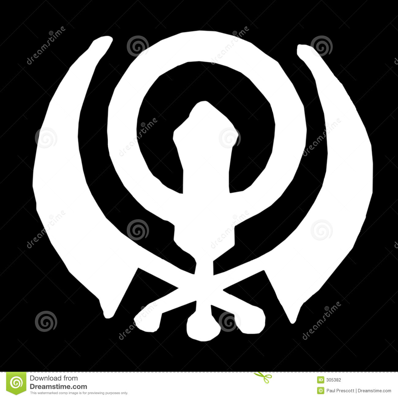 sikh symbol stock illustration illustration of nanak