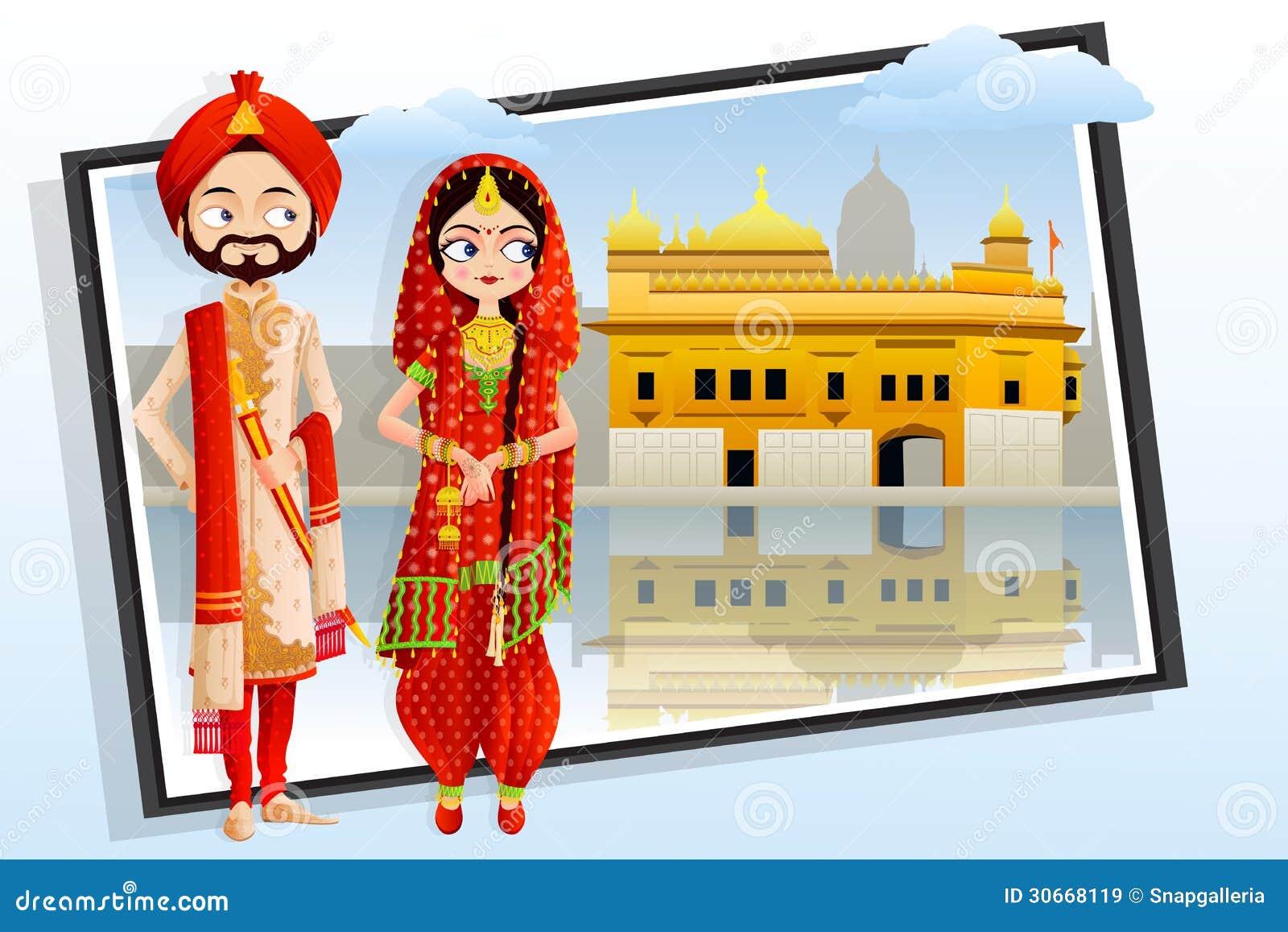 Sikh wedding couple royalty free stock images image 30668119