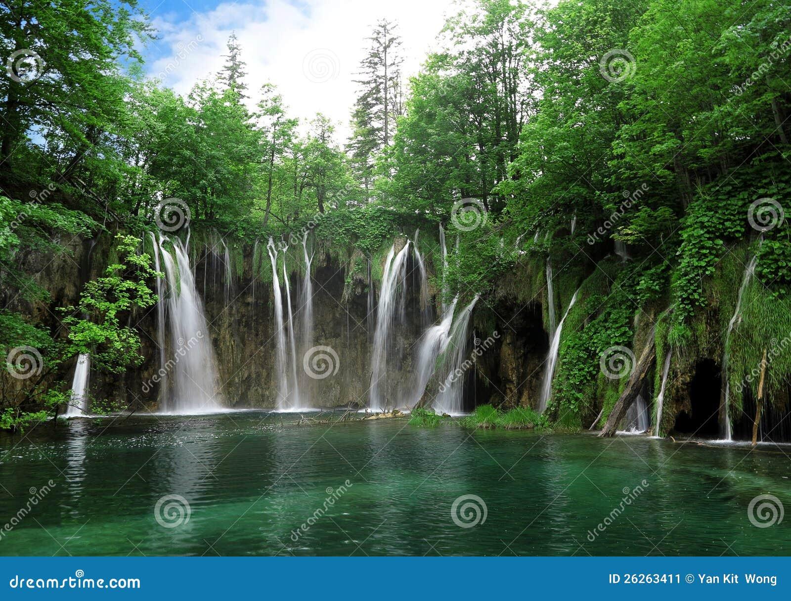 Siklawa w Plitvice Park Narodowy