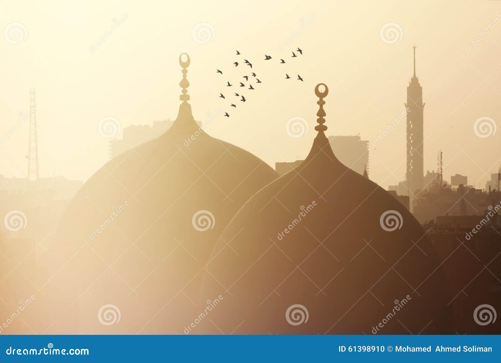 Sikt av cairo i Egypten