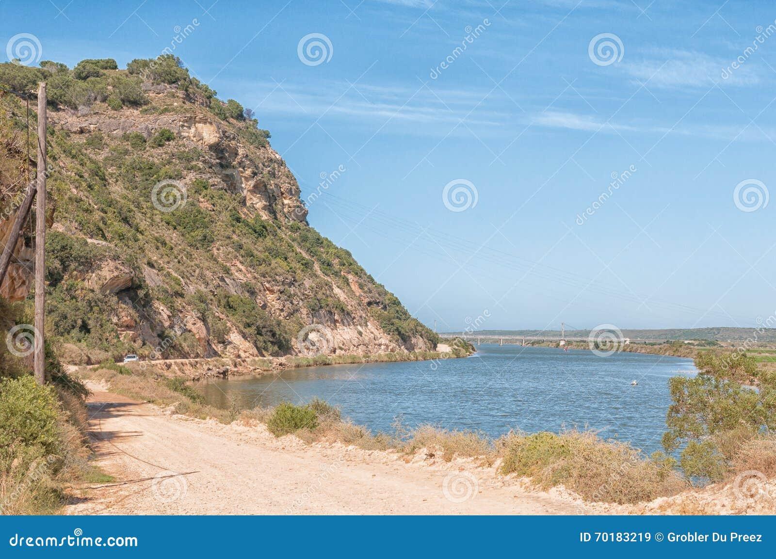 Sikt av den Gamtoos floden