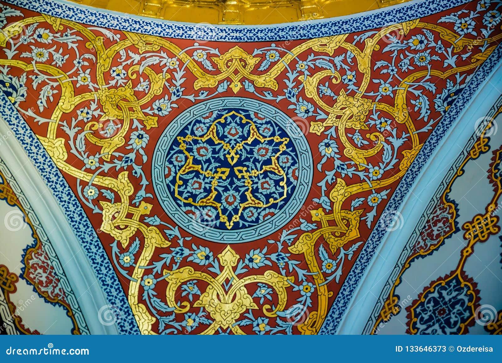 Sikt av den Topkapi slotten i Istanbul, Turkiet
