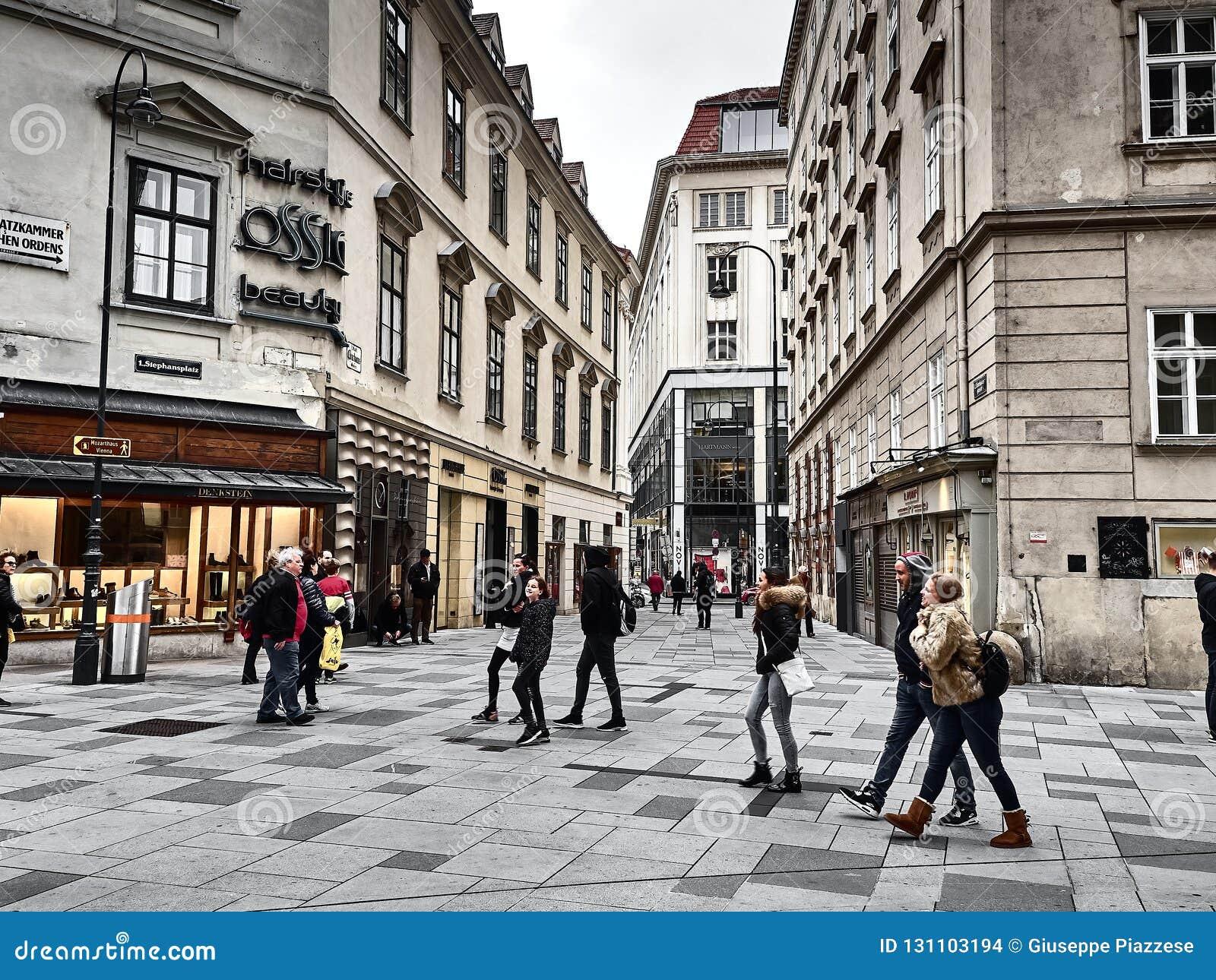 Sikt av gatorna av Wien
