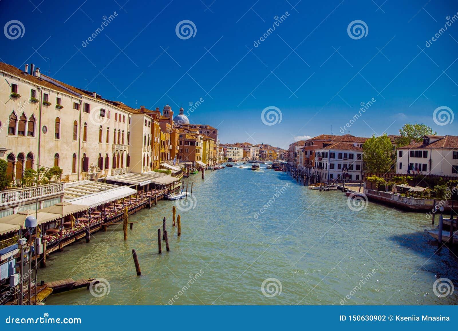 Sikt av Grand Canal i Venedig