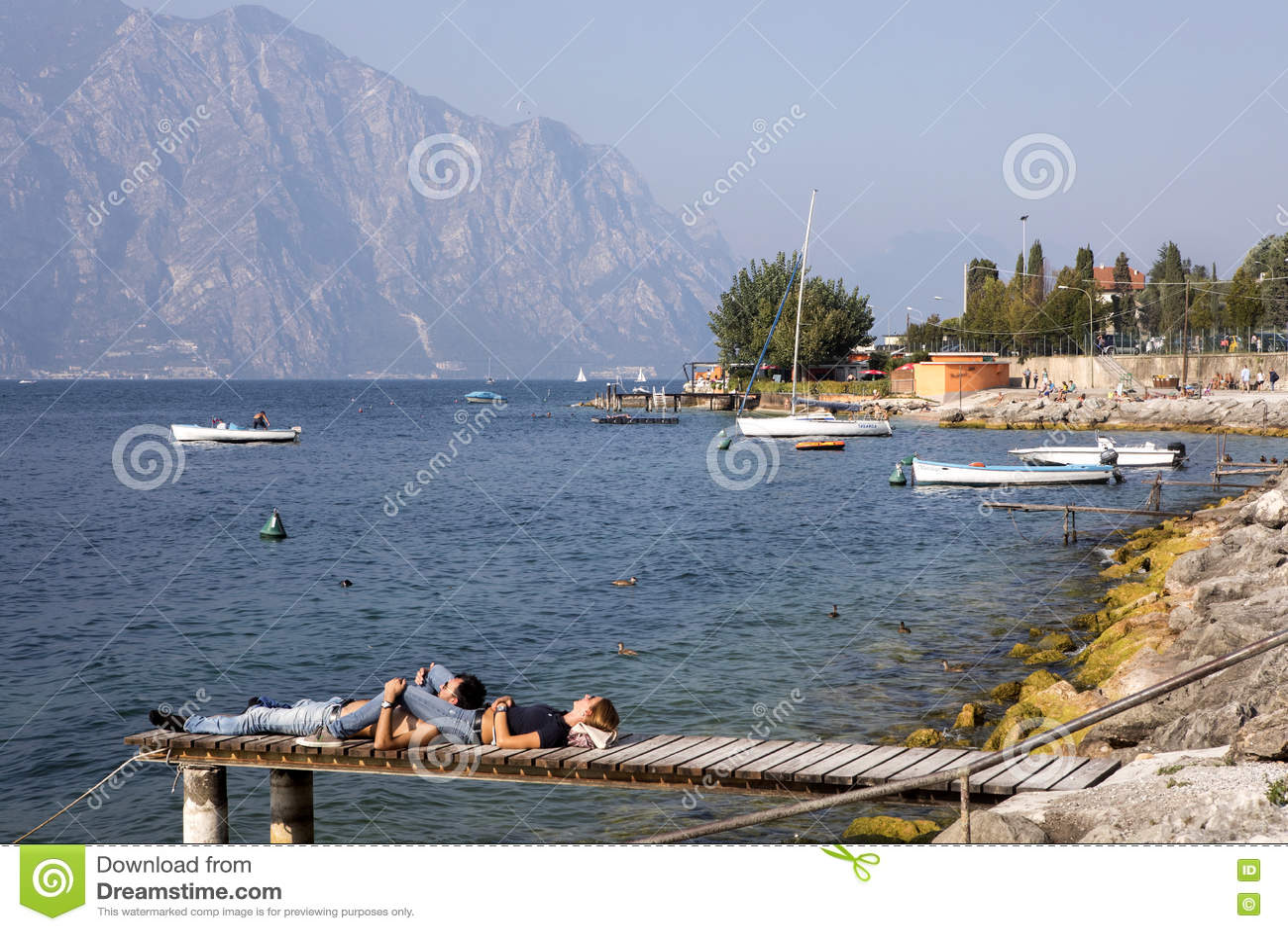 Sikt av, Lago di Garda, Italien