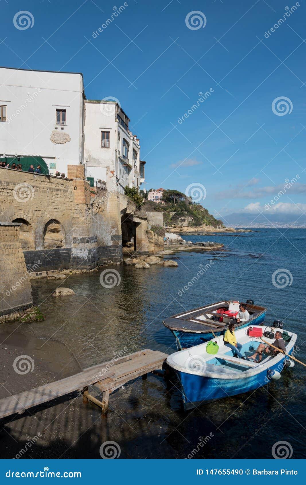 Sikt av Marechiaro i Posillipo, Naples