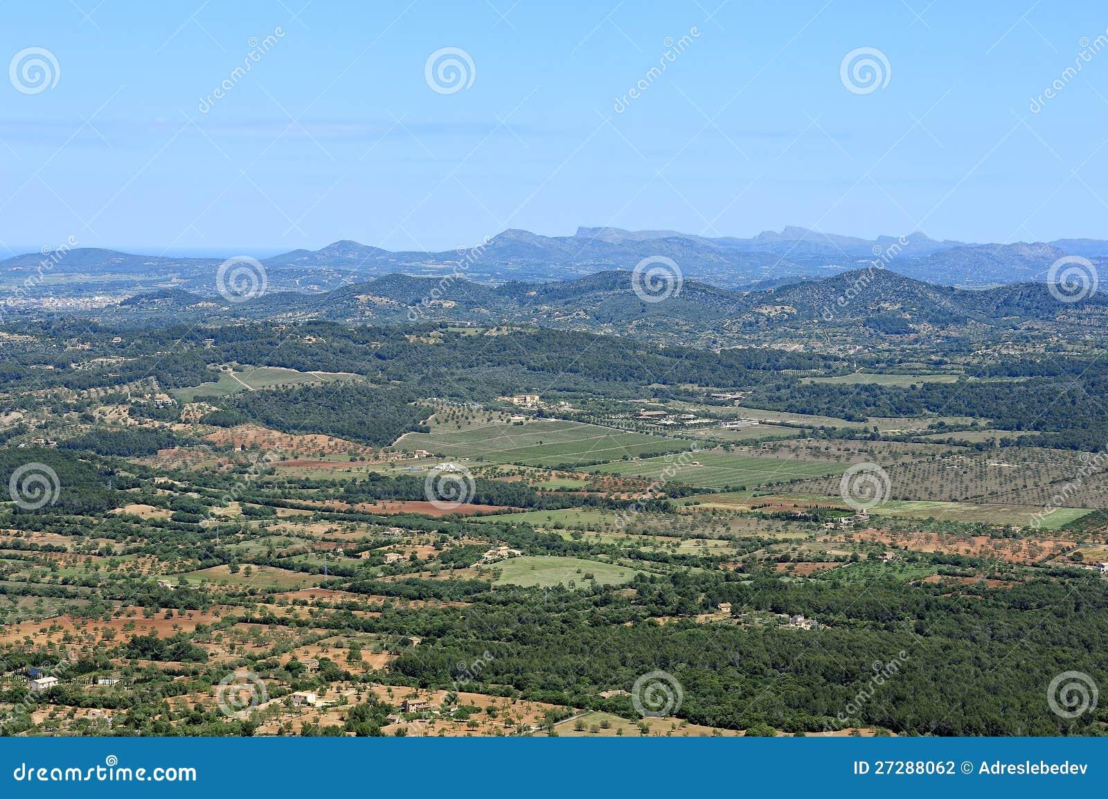 Sikt av södra Mallorca