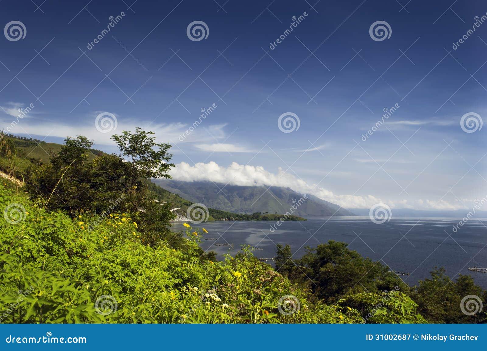 Sikt Av Sjön Toba Royaltyfri Fotografi - Bild: 31002687