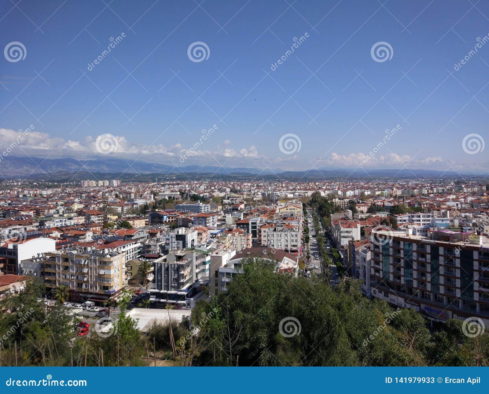 Sikt för Antalya Manavgat stadsfågel