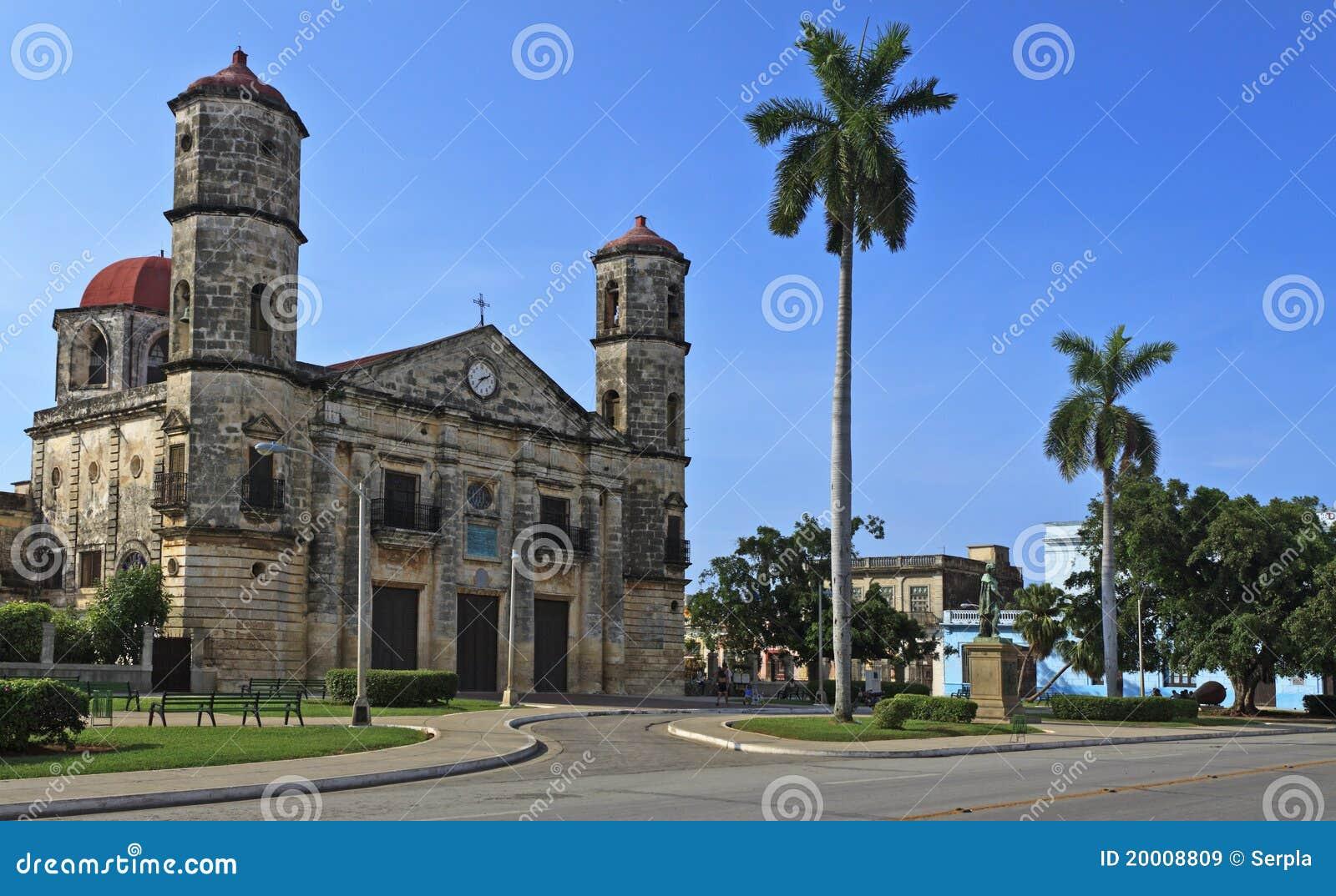 Sikt för landmark för cardenasdomkyrka kubansk