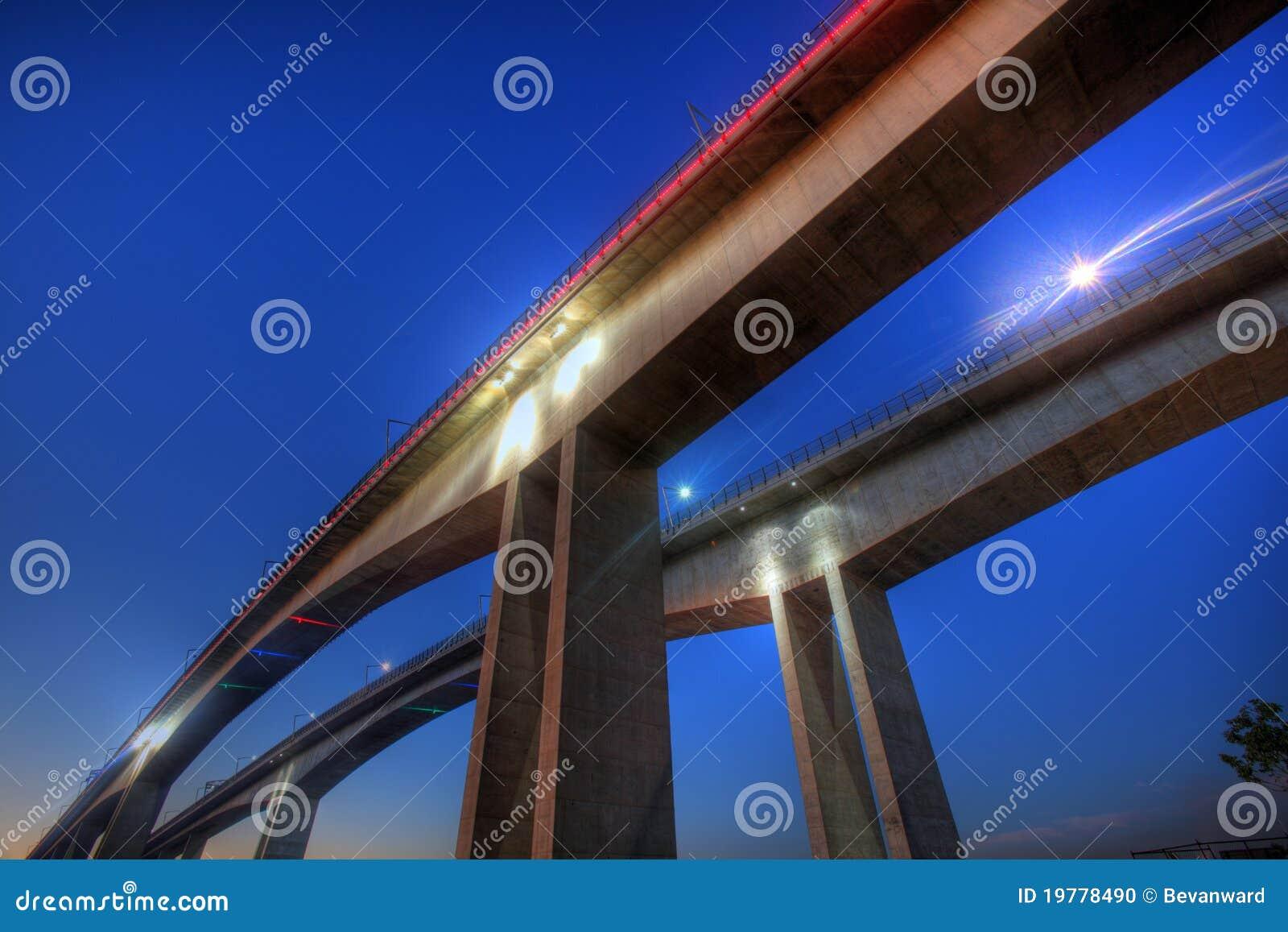 Sikt för natt för brobrisbane nyckel