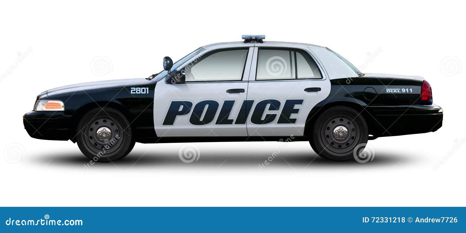 Sikt för sida för polisbil
