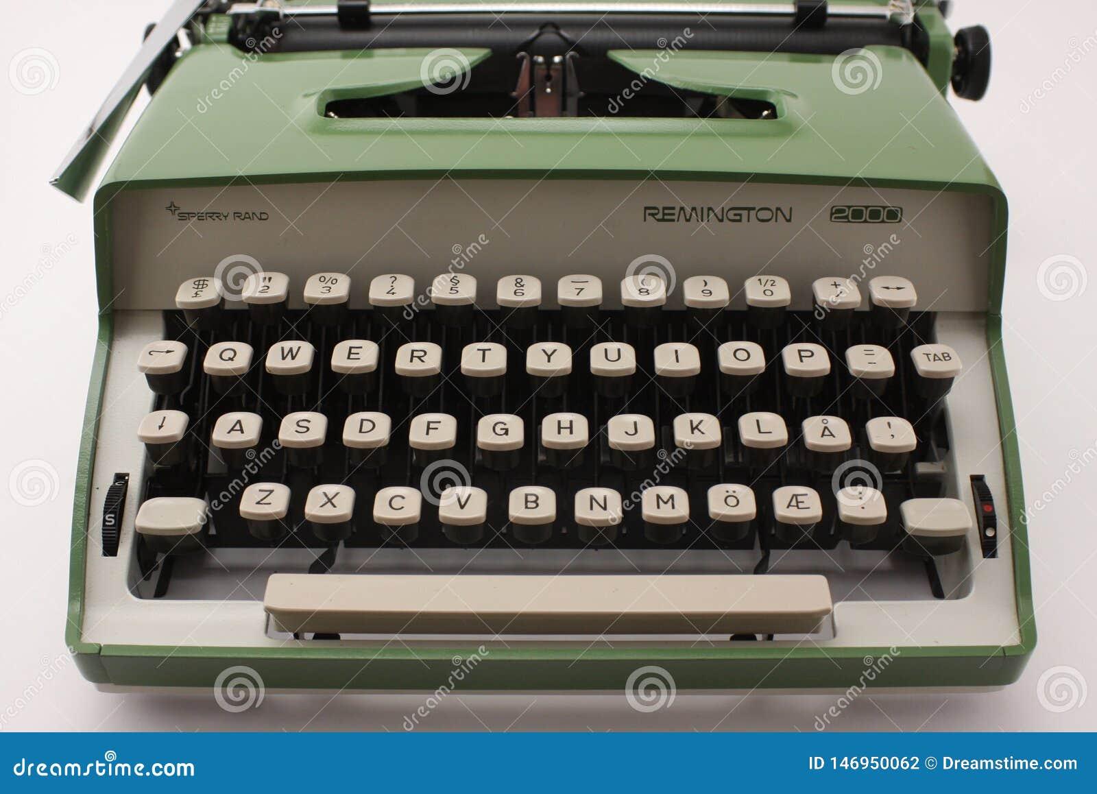 Sikt 2000 för sperry rand för Remington skrivmaskin främre