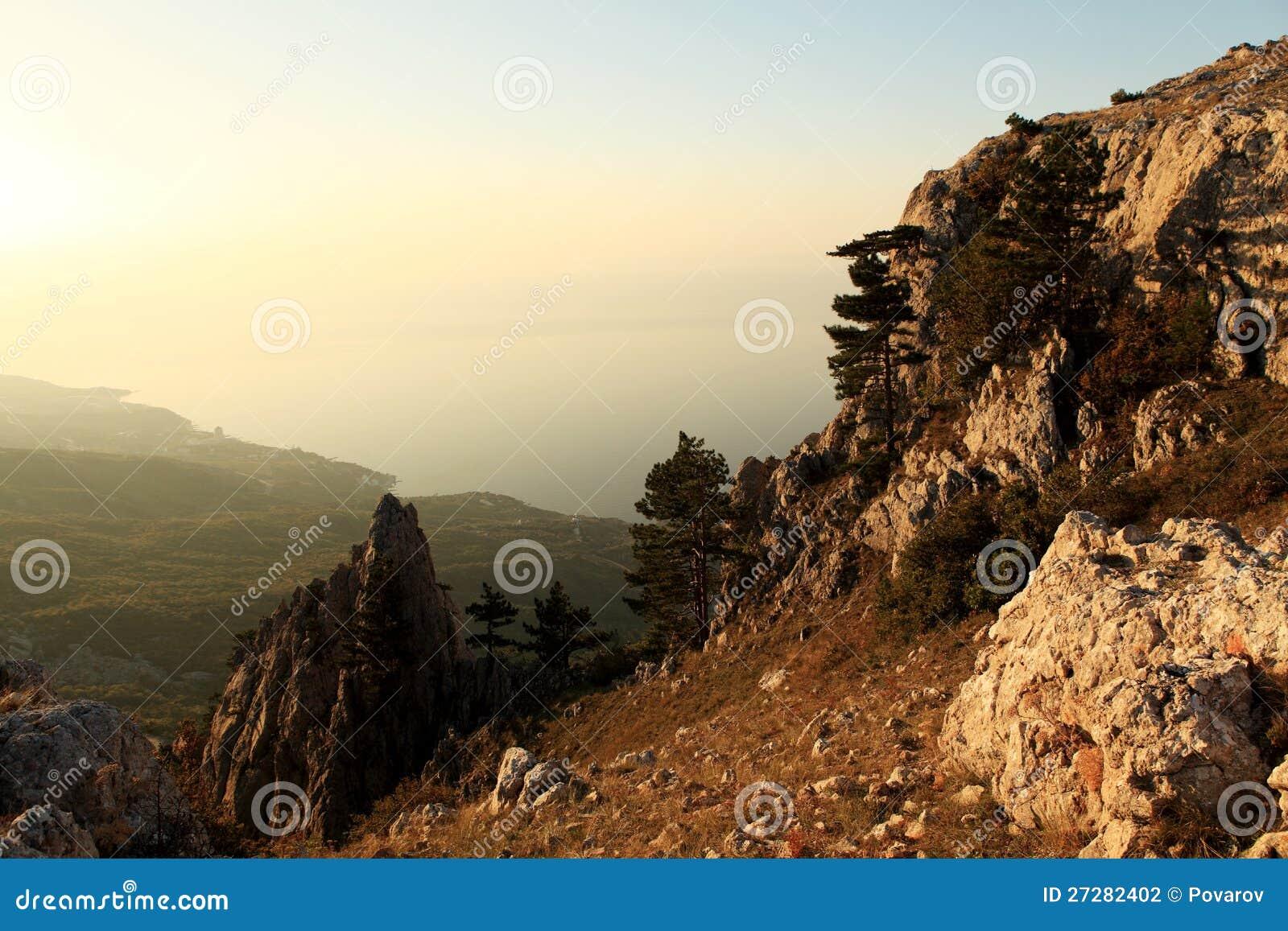 Sikt från bergen
