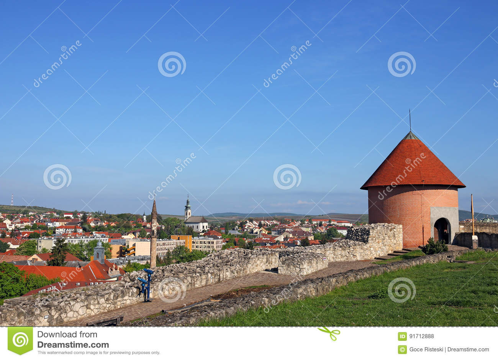 Sikt från den Eger fästningen