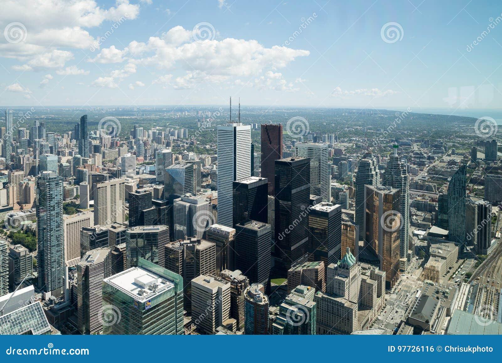 Sikt från tornet i Toronto Ontario
