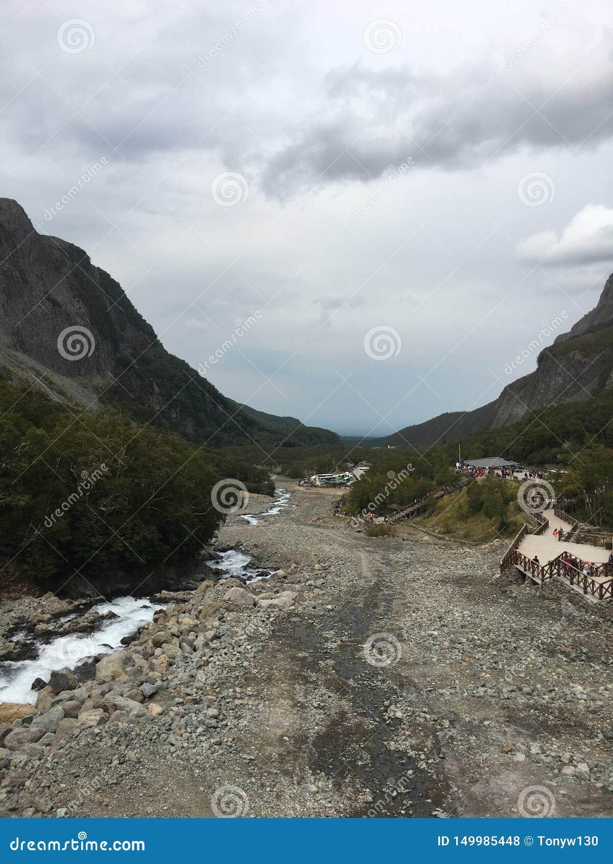 Sikt och landskap för bra berg bästa på det Changbai berget
