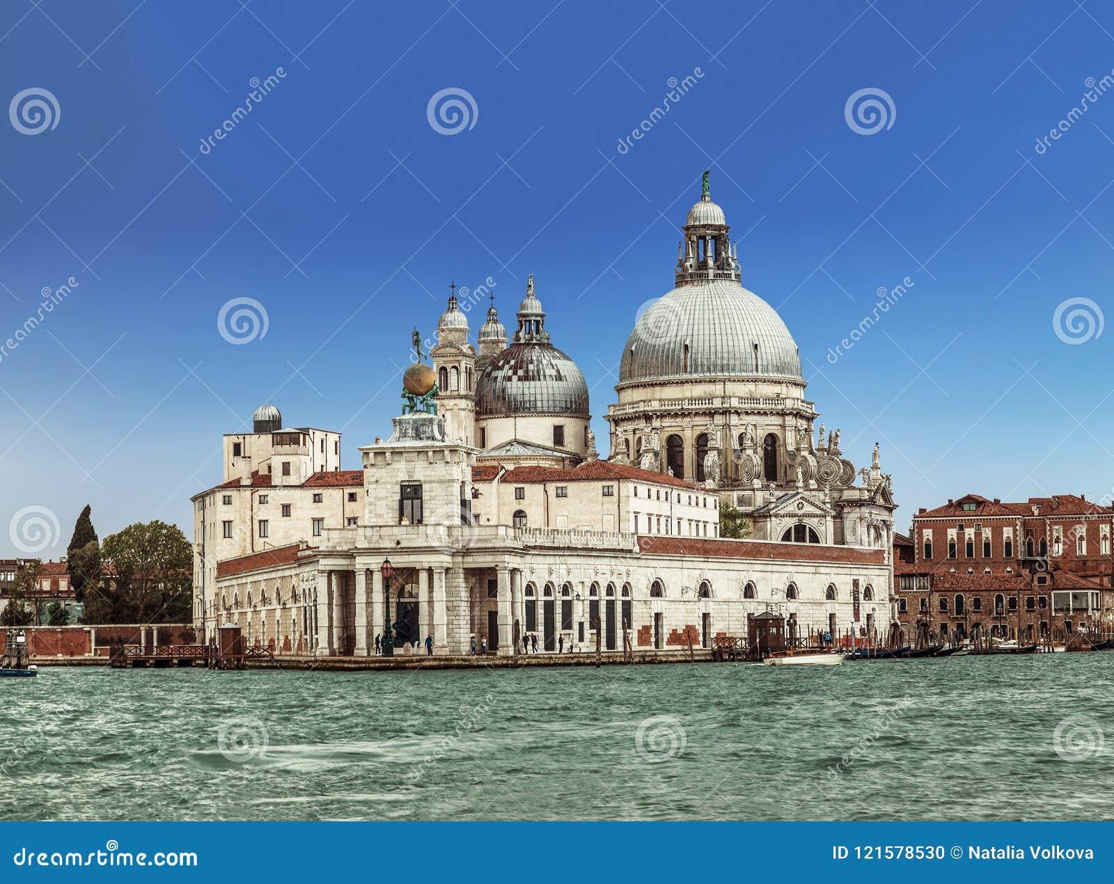 Sikt på domkyrka av Santa Maria della Salute Venedig