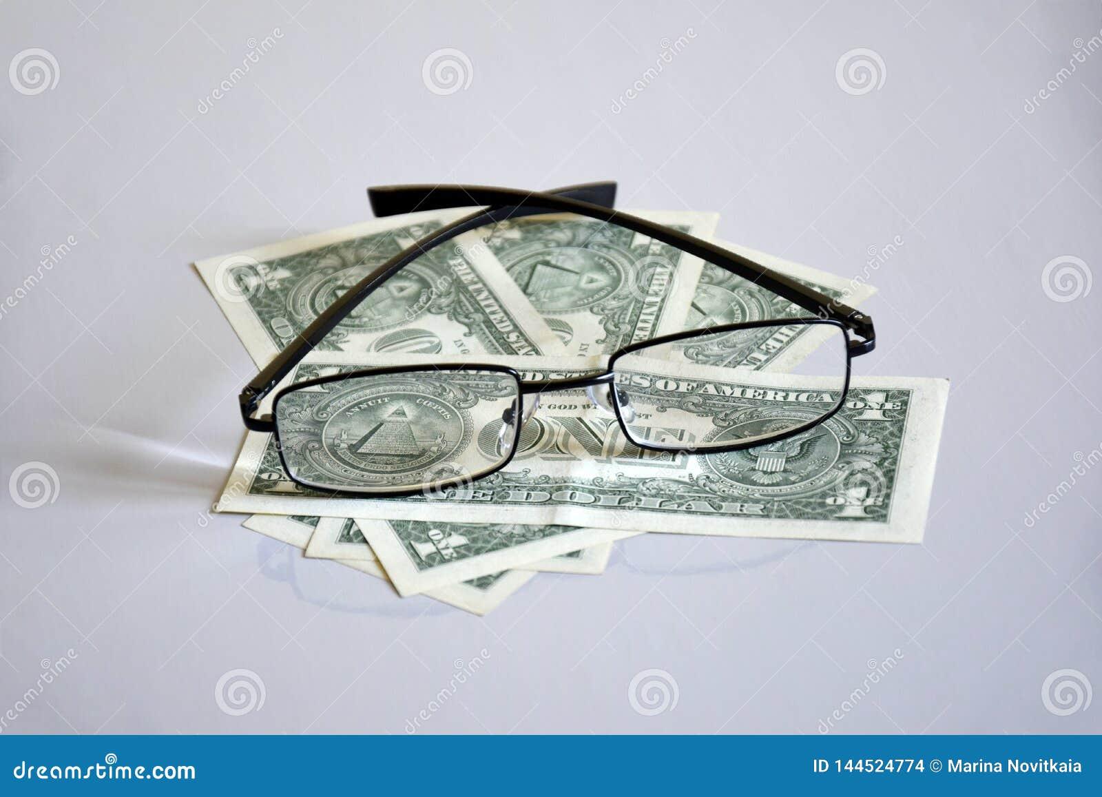 Sikt p? pyramiden f?r $ 1 till och med exponeringsglas