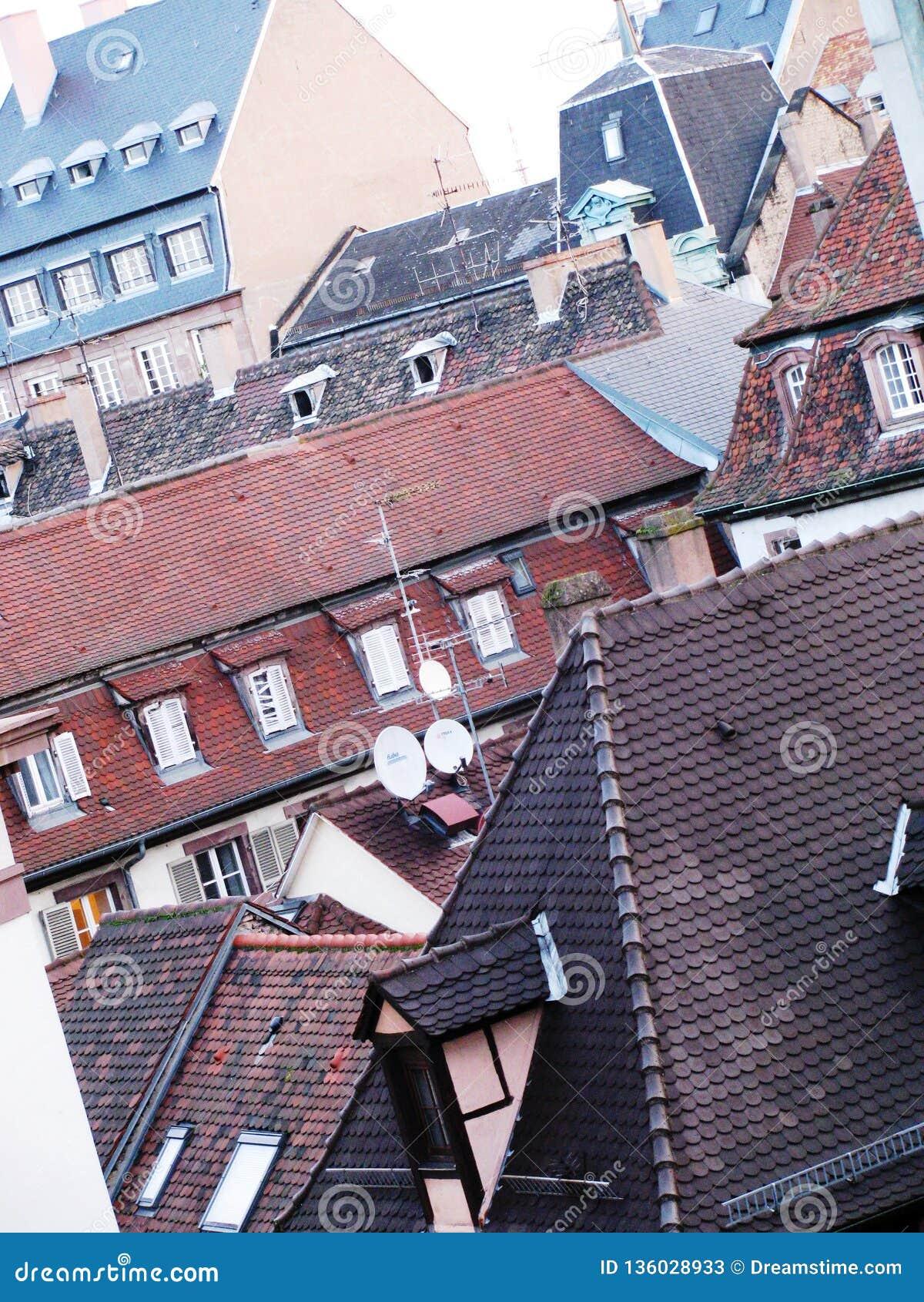 Sikt på taket av Paris