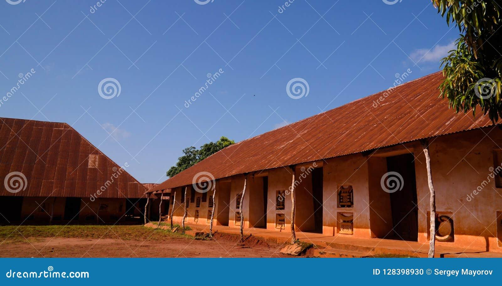 Sikt till kungliga slottar av Abomey, Benin