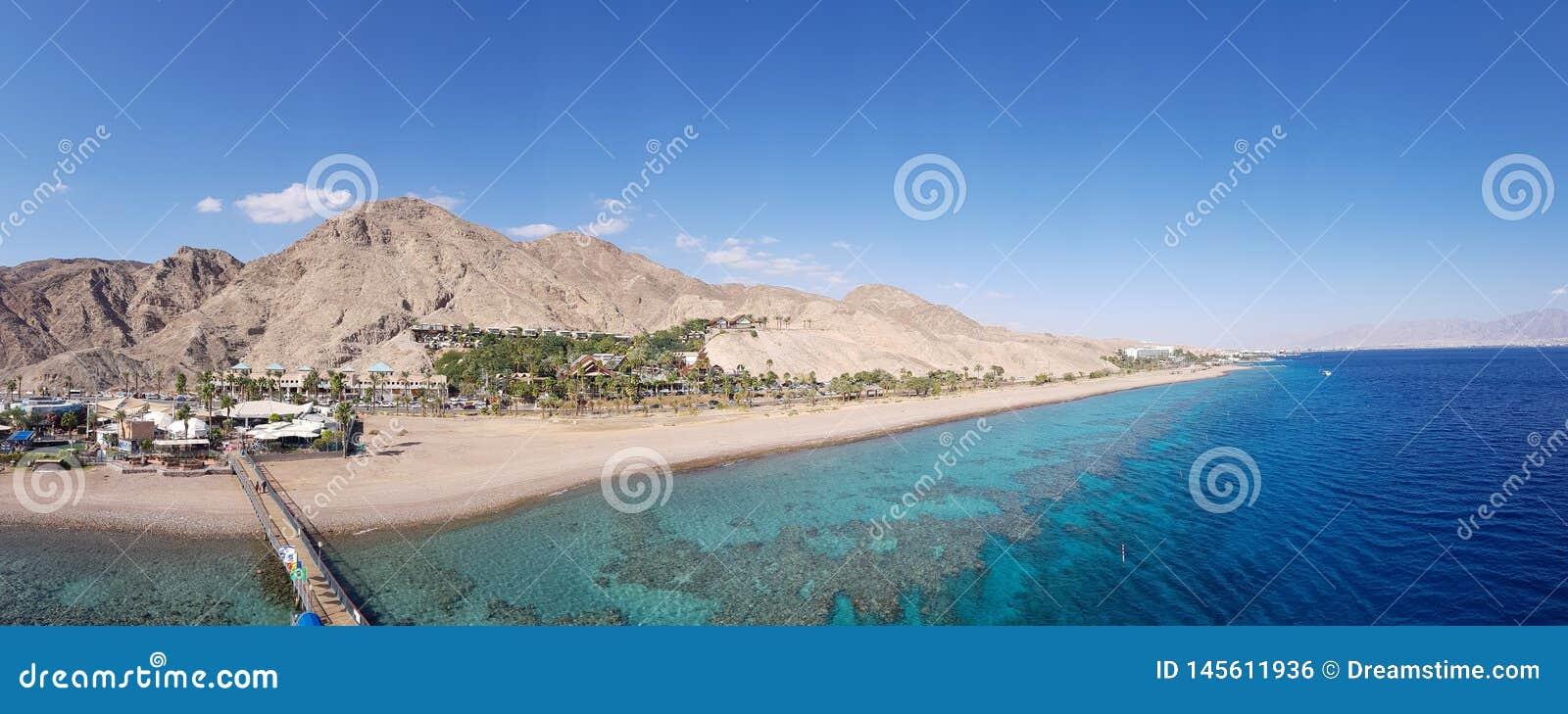 Sikt till sjösidan Eilat